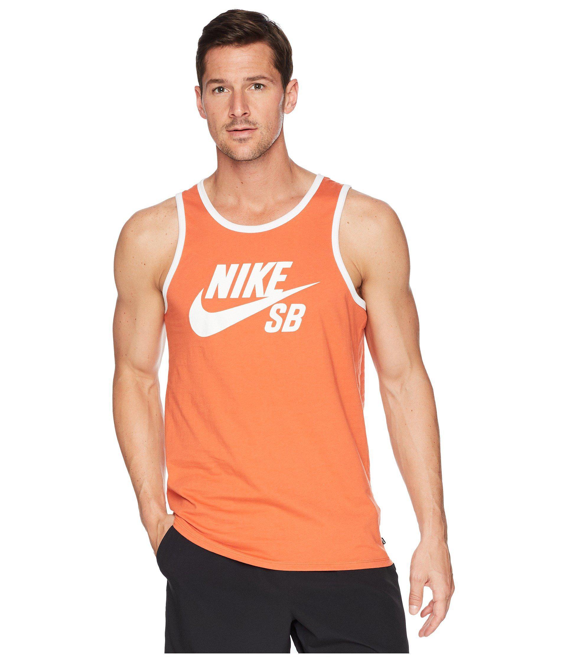 80639a06651138 Lyst - Nike Sb Tank Top Ringer (white black) Men s Sleeveless in ...