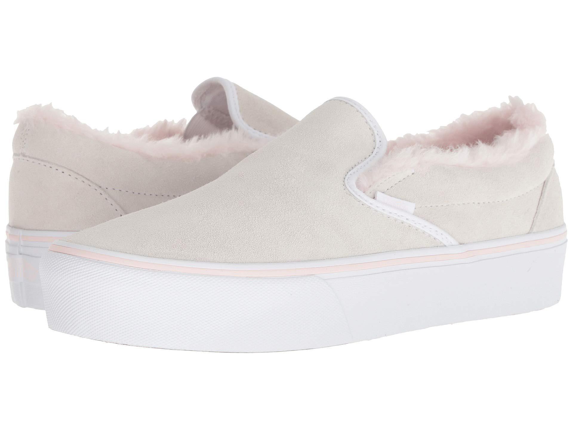 Lyst - Vans Women Classic Slip-on Platform Suede Sneakers 5e9f4335b