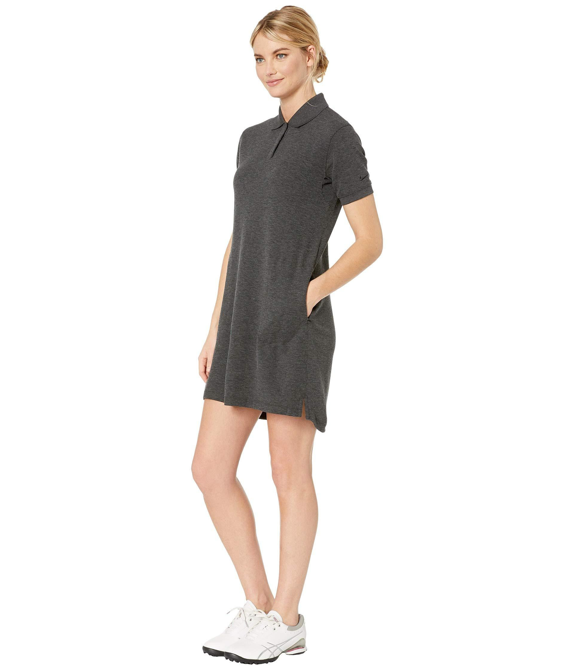 ab2a27cd17105 Lyst - Nike Dry Dress Short Sleeve (black/black) Women's Dress in Black