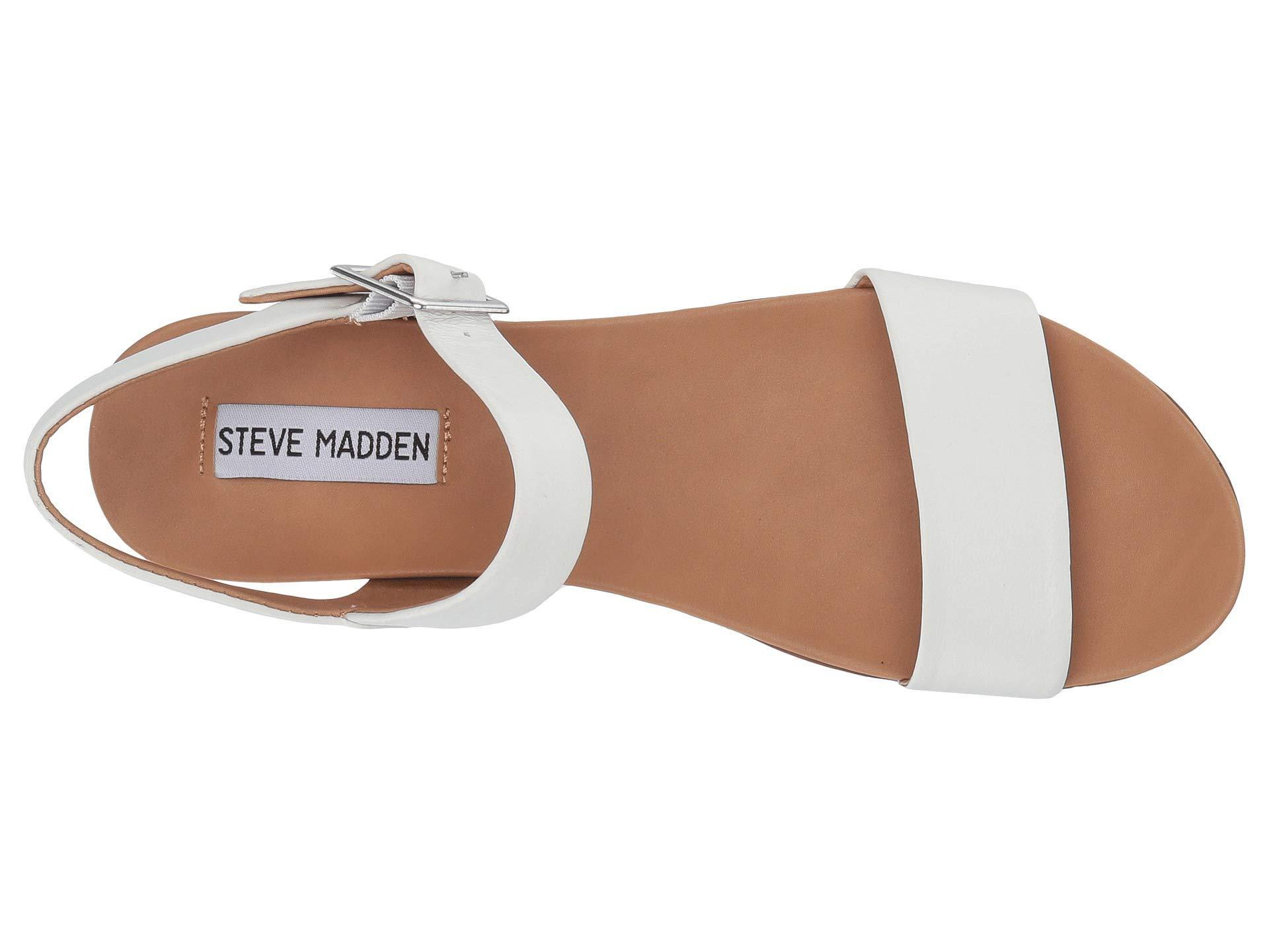 512c88c0aa8 Steve Madden - White Aida (natural Snake) Women s Shoes - Lyst. View  fullscreen