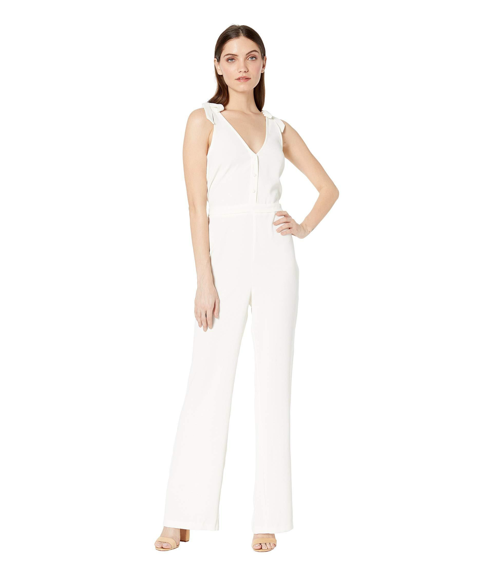 68645cff74dd Lyst - Cupcakes And Cashmere Topeka V-neck Jumpsuit (ivory) Women s ...