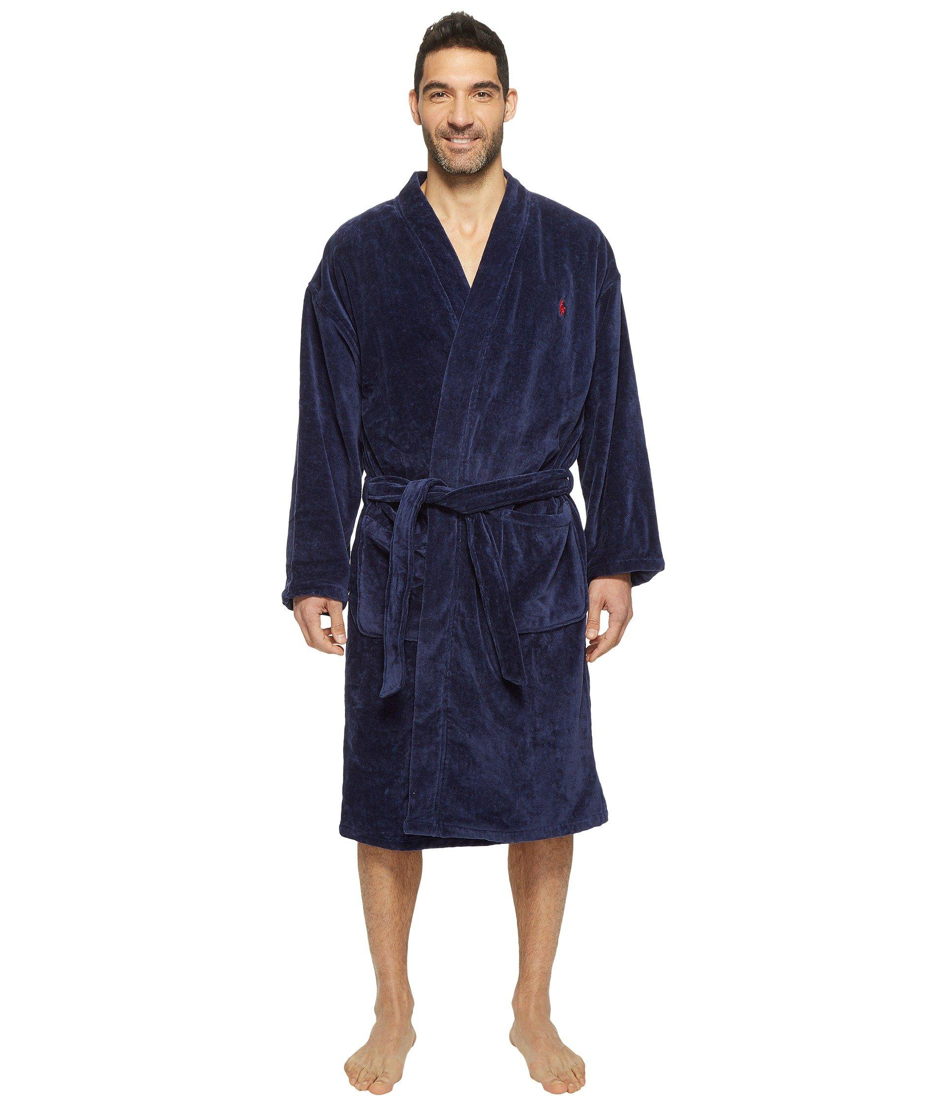 Lyst - Polo Ralph Lauren Terry Shawl Robe (white) Men s Robe in Blue ... 19cc4dece