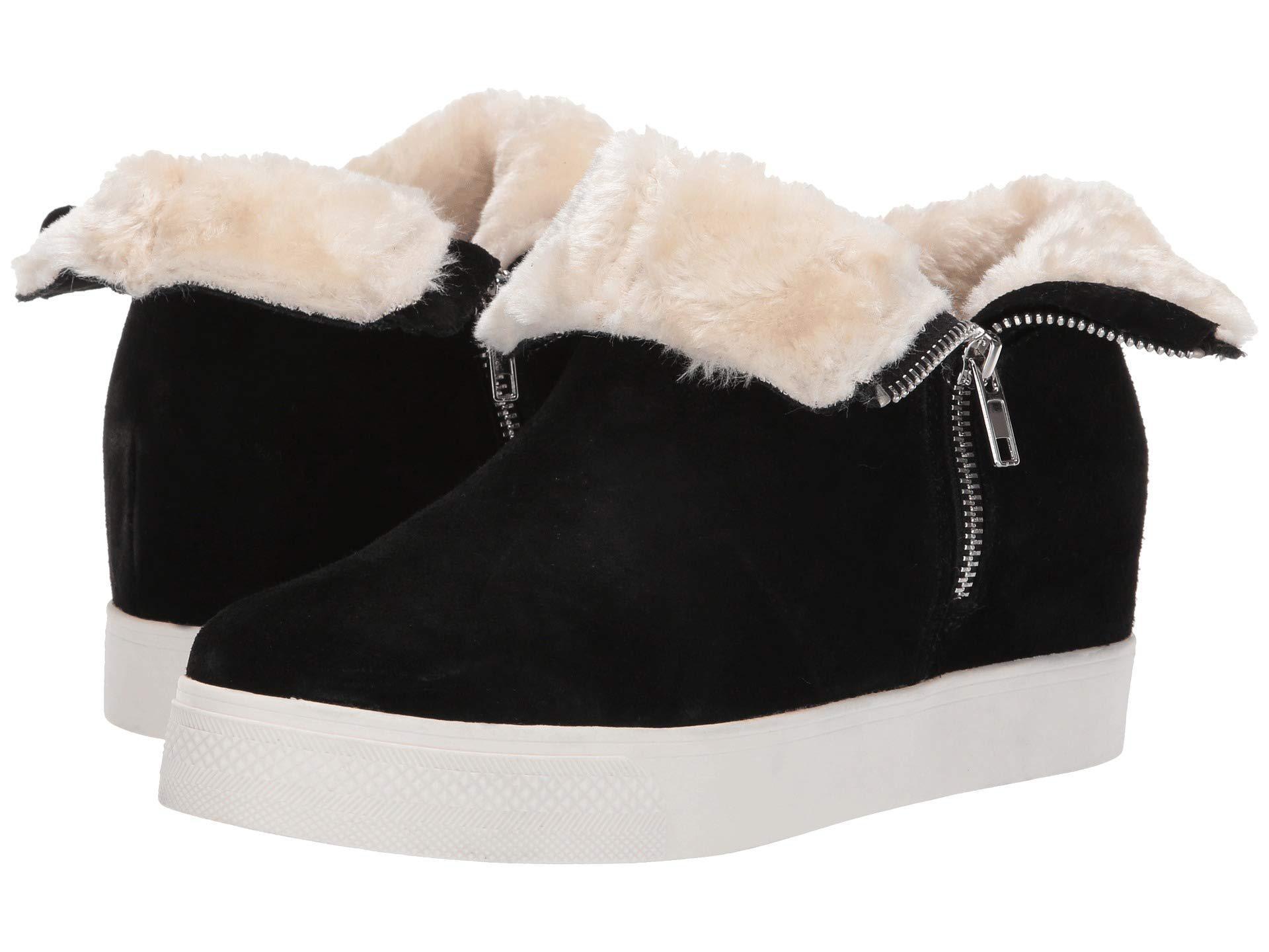 53397c4f25c4 Lyst - Steve Madden Wanda Wedge Sneaker (black Suede) Women s Wedge ...