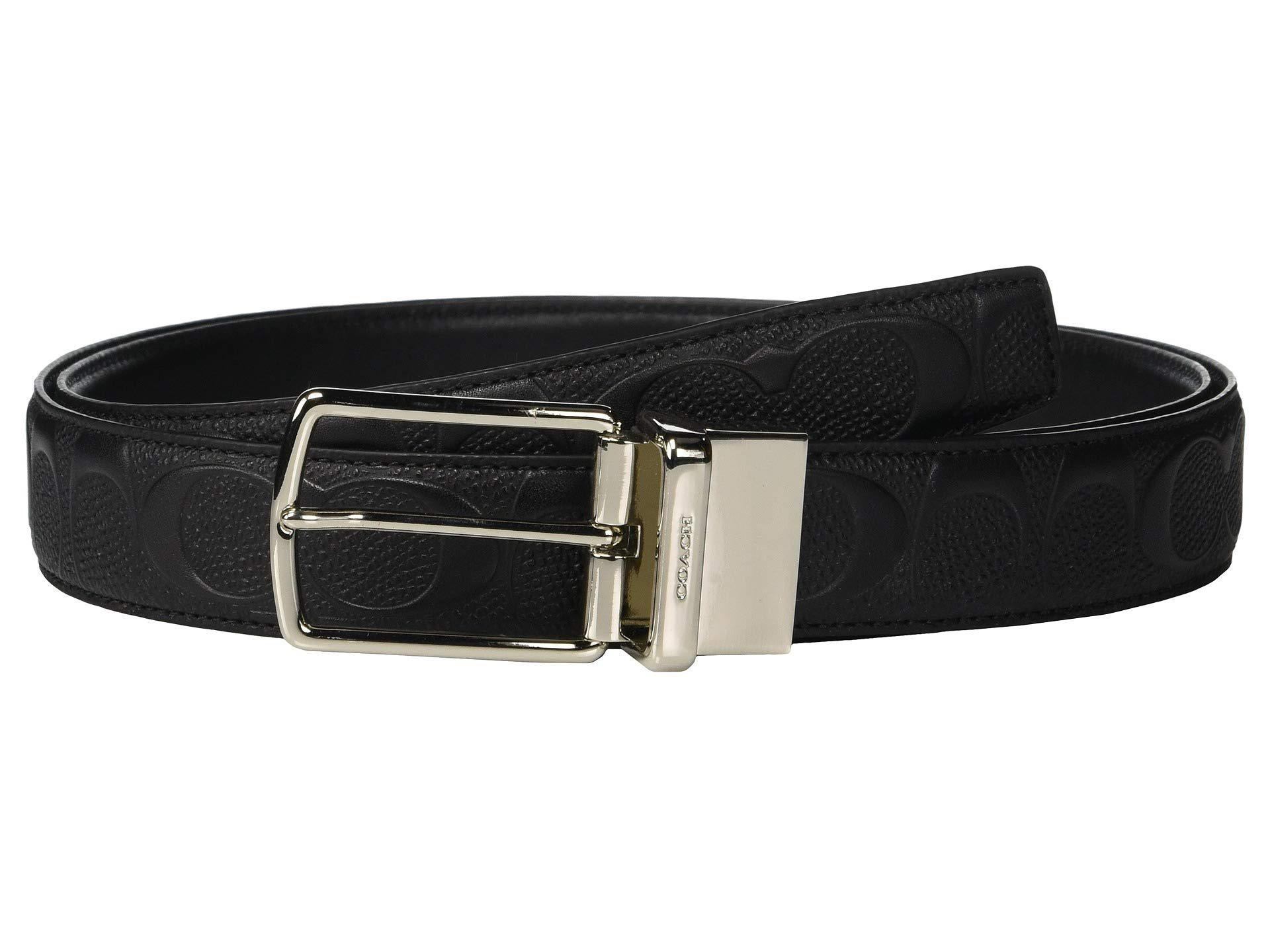 62863ef95c704 COACH. Modern Harness Cut To Size reversible Signature Crossgrain Belt  (black) Men s Belts
