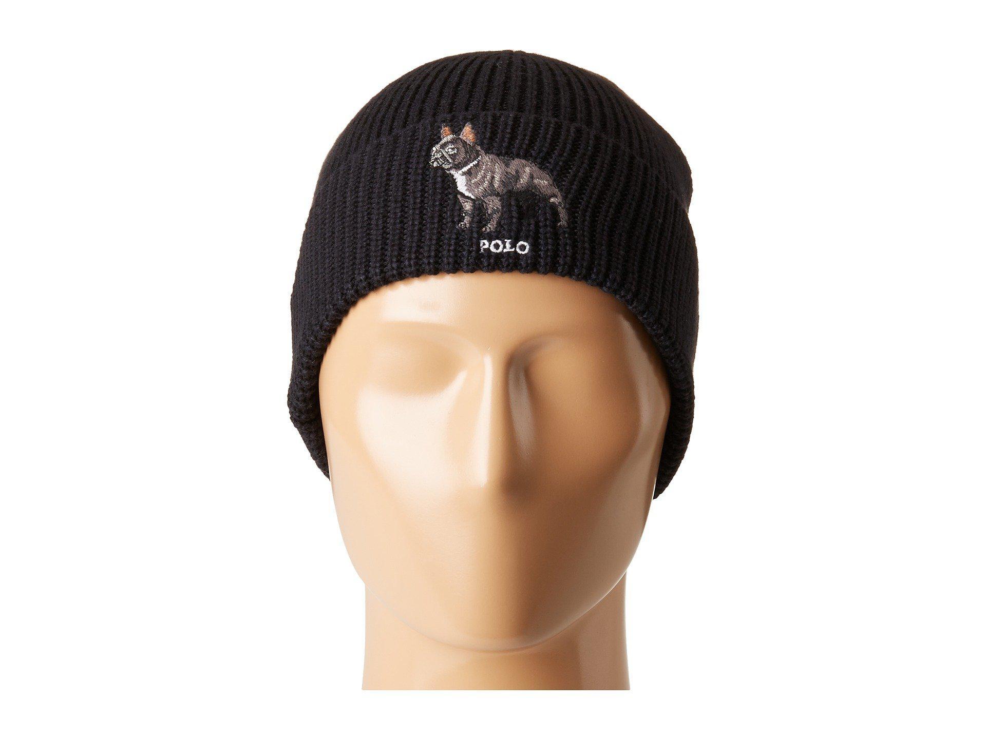 Lyst - Polo Ralph Lauren French Bulldog Watch Cap in Black for Men 8f8c86010e3