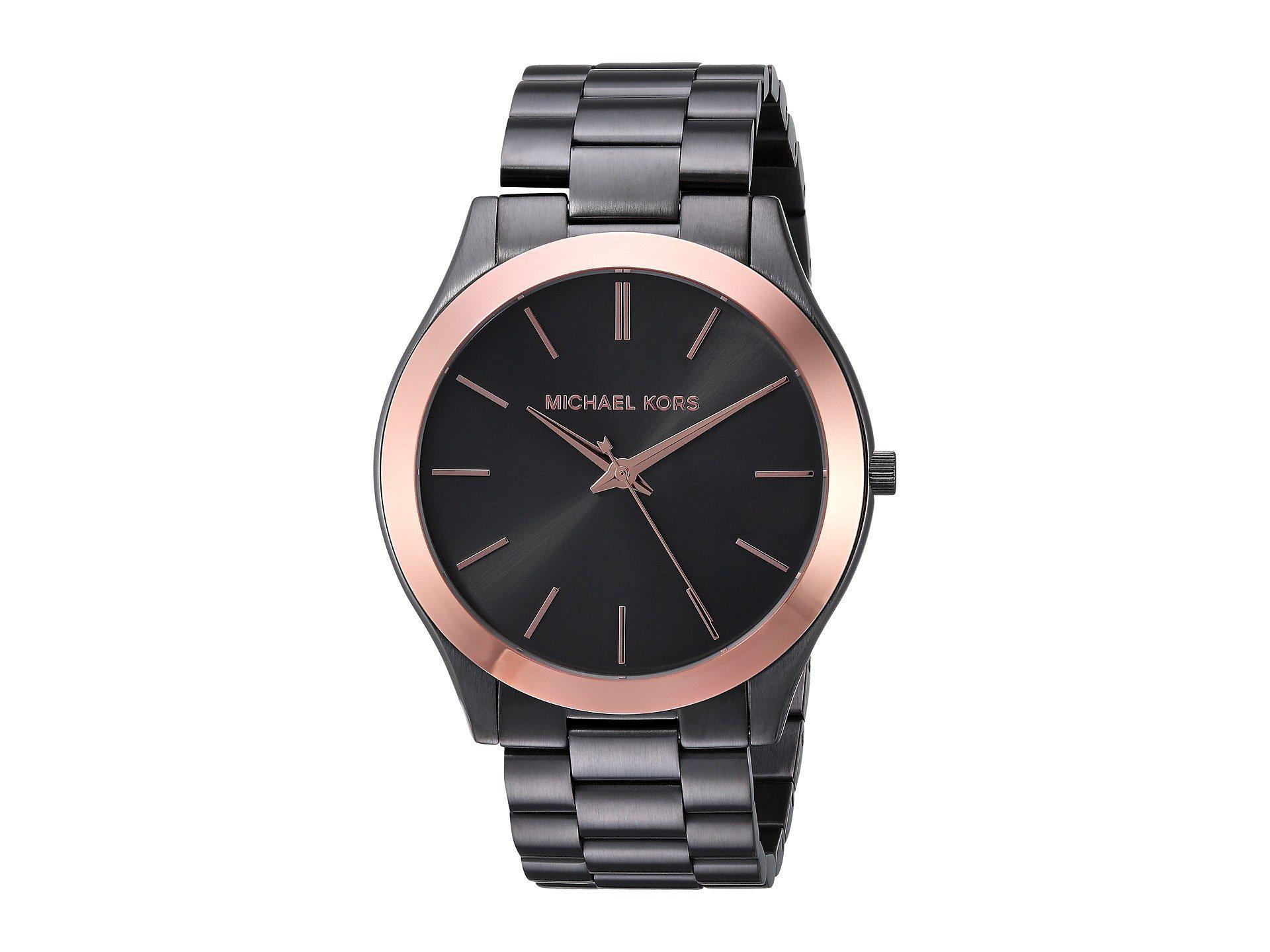 886a9a350028ec Michael Kors Mk8576 - Slim Runway (grey) Watches in Gray for Men - Lyst
