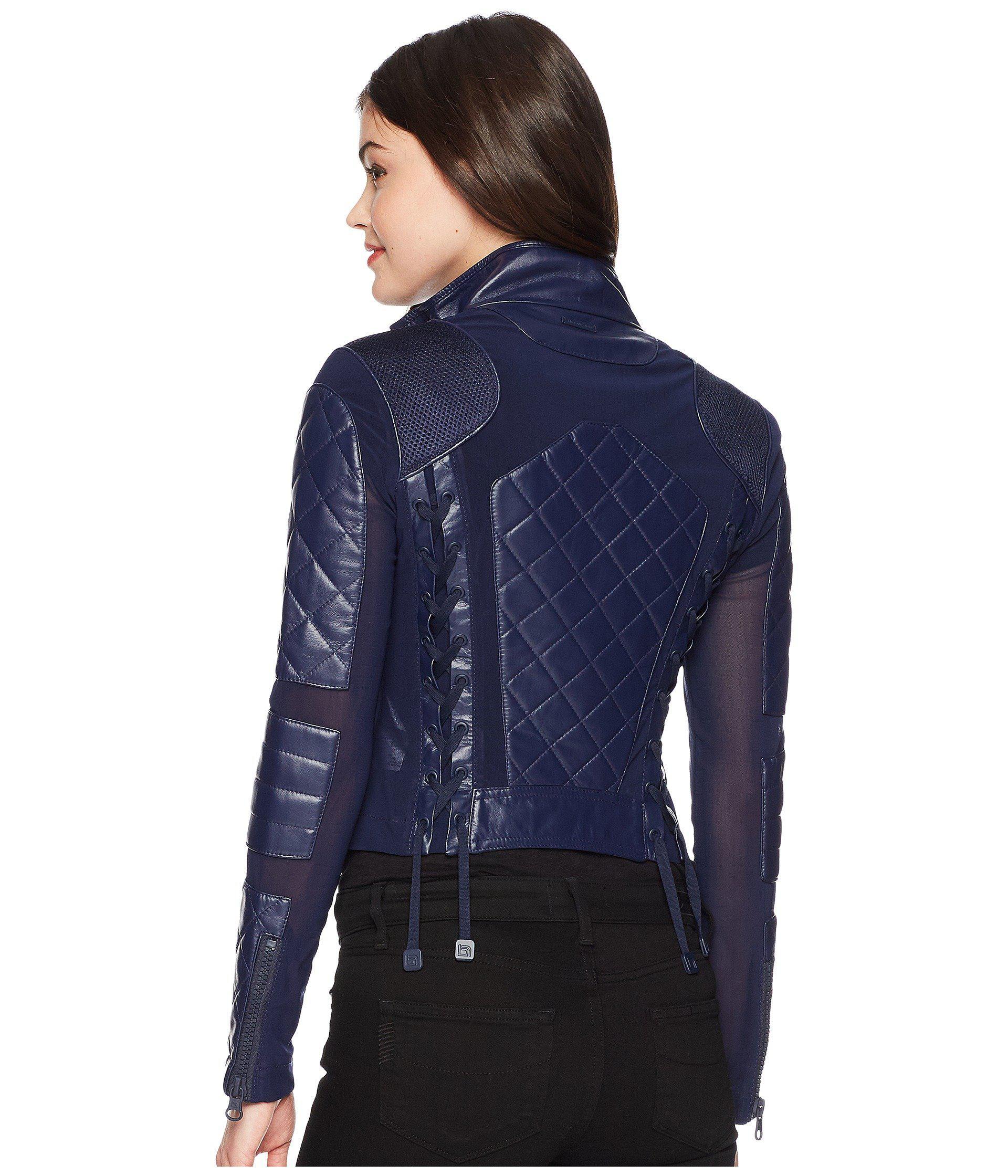 0f0ef5d7150f Lyst - BLANC NOIR Moto Jacket (pale Pink 1) Women s Jacket in Blue