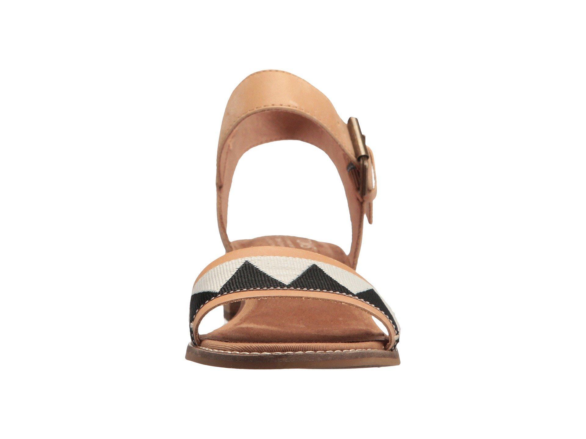 d867c69453a TOMS - Brown Camilia (honey Leather geometirc Woven) Women s Sandals -  Lyst. View fullscreen