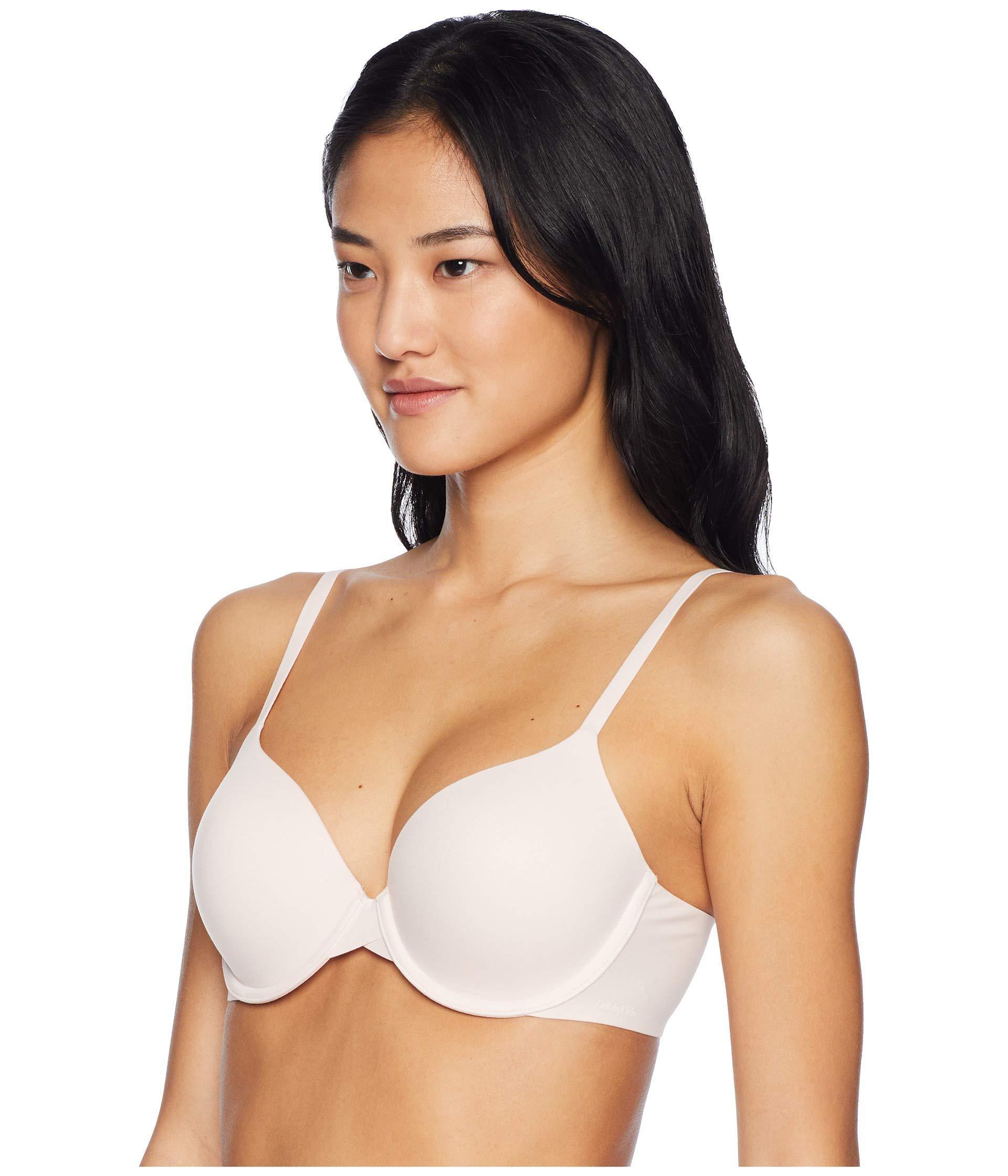 6de9a68f086 Lyst - Calvin Klein Perfectly Fit Modern T-shirt Bra F3837 (black) Women s  Bra in White