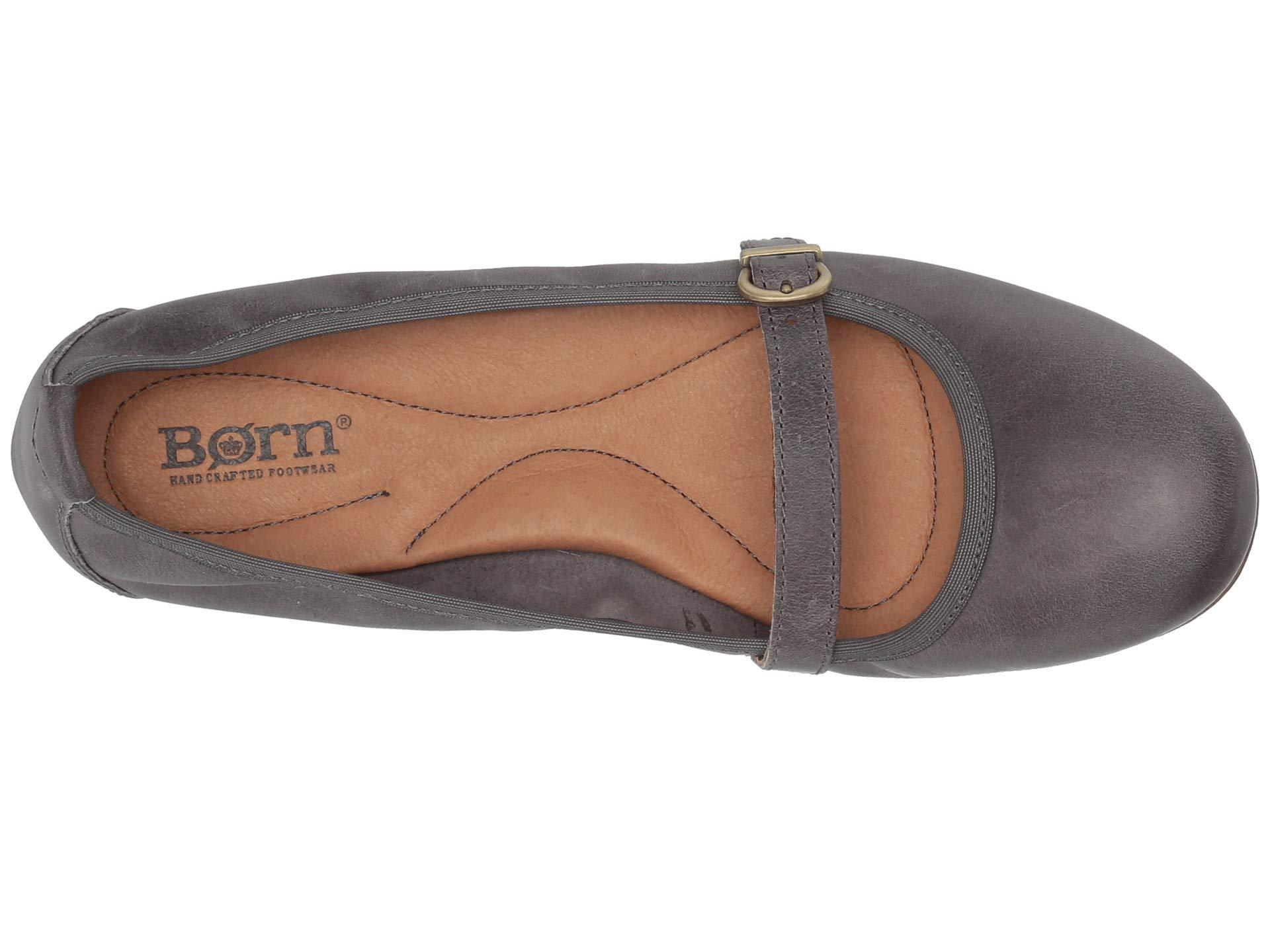 f420a6632336 Born - Gray Curlew (black Full Grain Leather) Women s Flat Shoes - Lyst.  View fullscreen