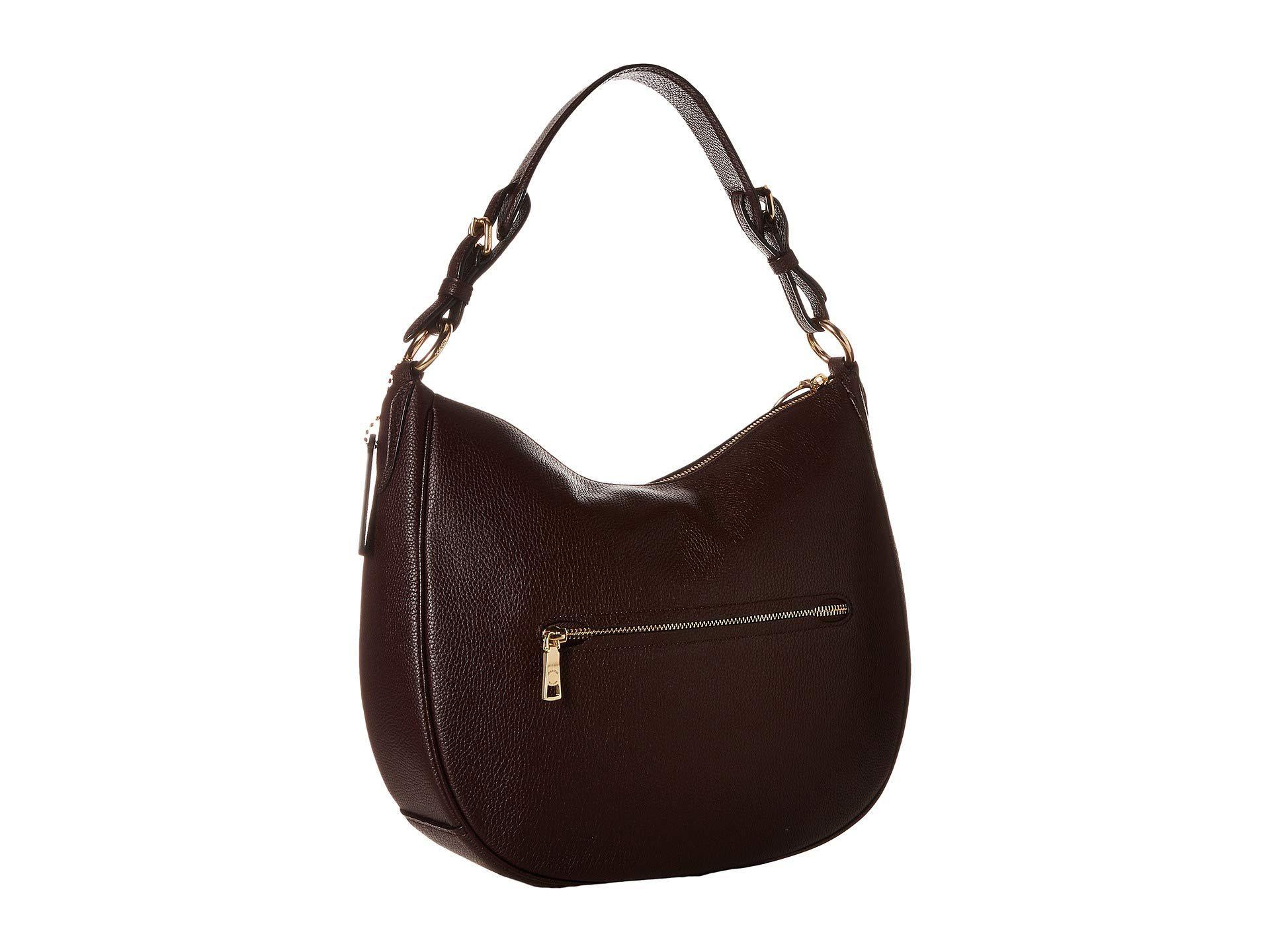 8b11221101 COACH Polished Pebble Leather Sutton Hobo (gold/oxblood) Hobo ...