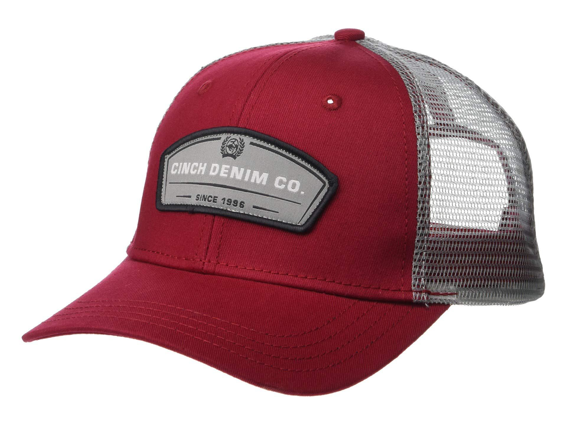 Lyst - Cinch Trucker Cap (burgundy) Caps in Red for Men c5459fabb5a9
