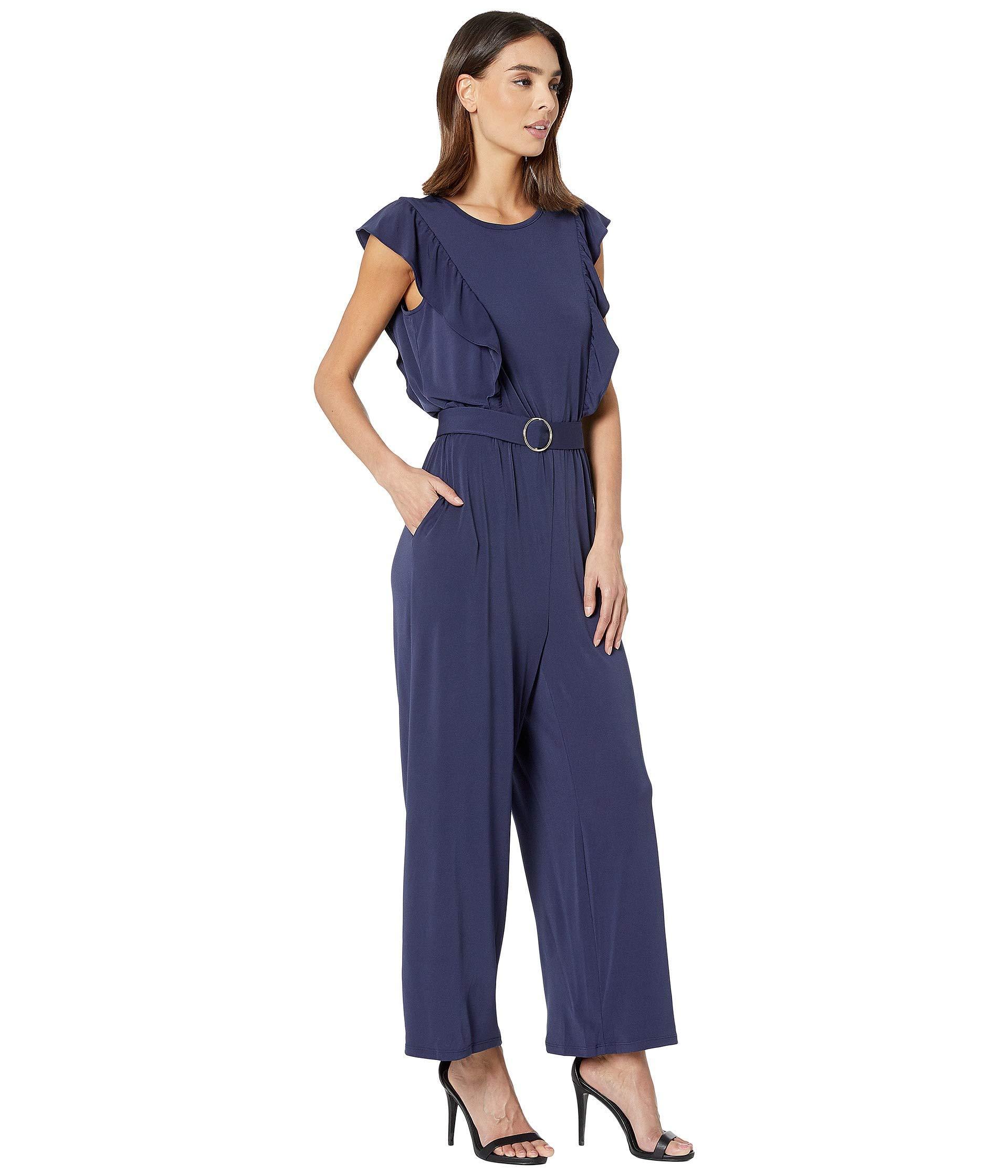 0e2f812dab7 ... Solid Ring Belt Jumpsuit (true Navy) Women s Jumpsuit  . View fullscreen
