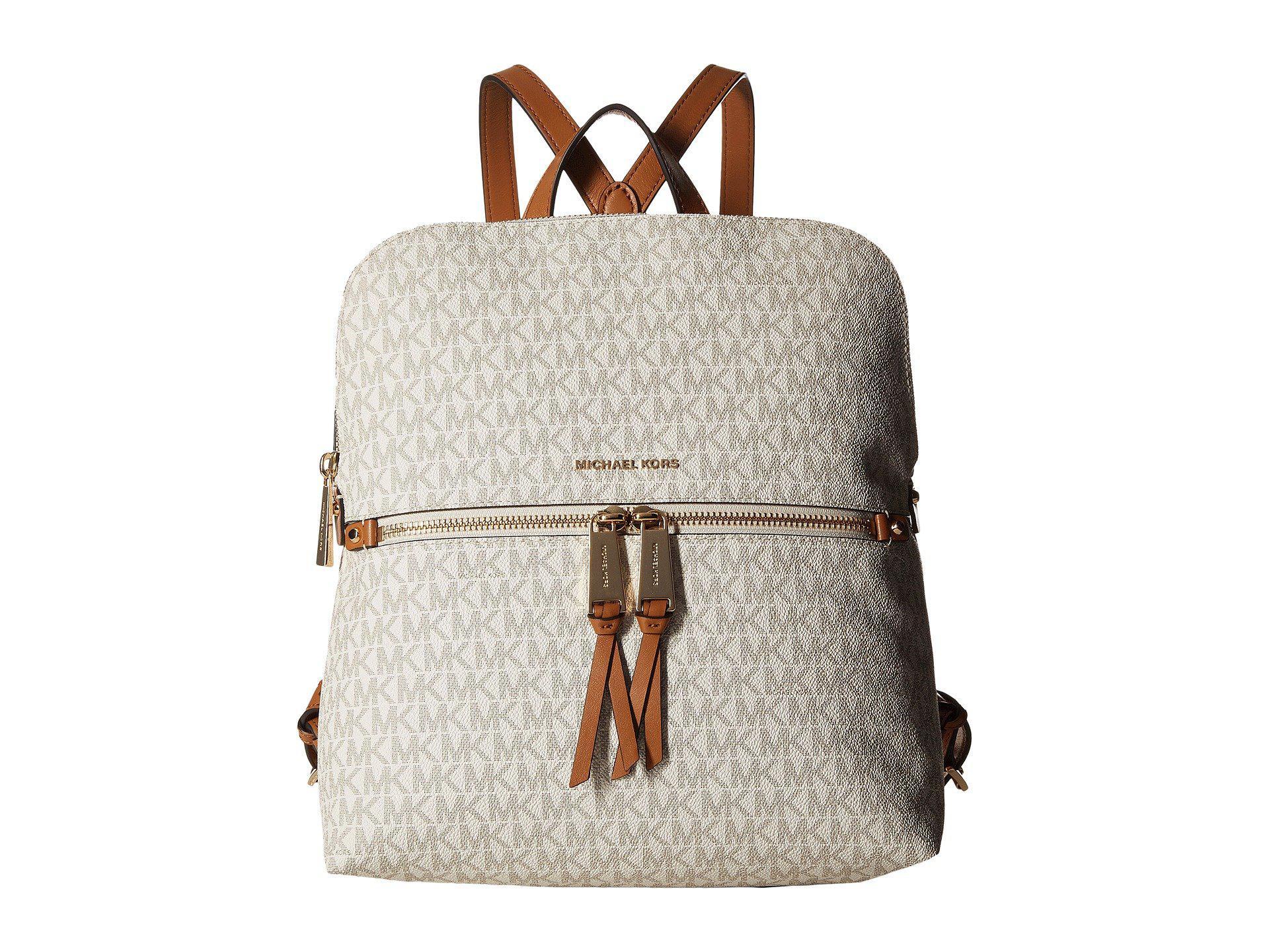 182619600f ... where to buy michael michael kors. womens rhea zip medium slim backpack  vanilla 0e6cd 5839d