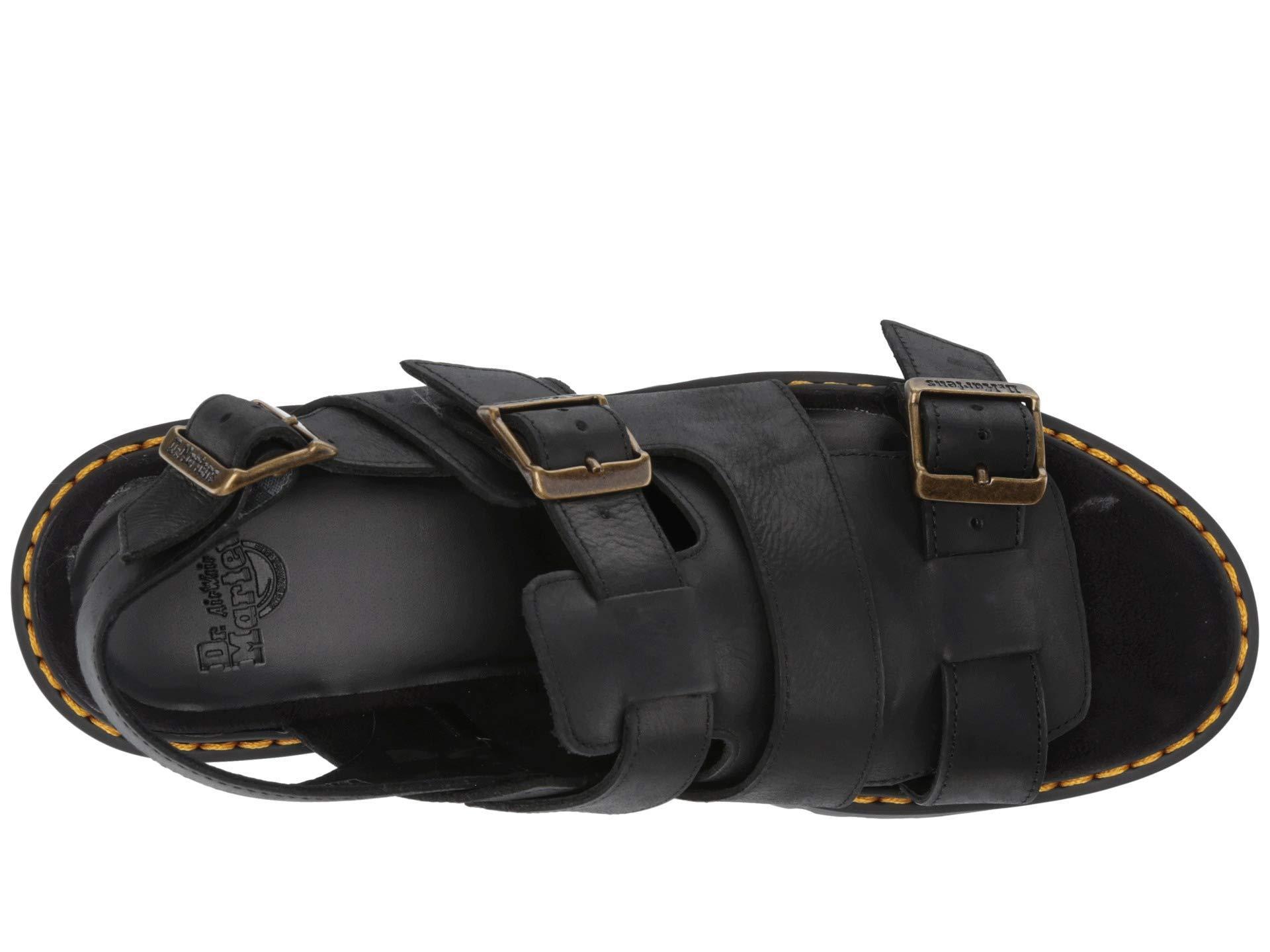 464002c2b6d6 Dr. Martens - Black Ariel Leaather Chunky Heeled Sandals - Lyst. View  fullscreen