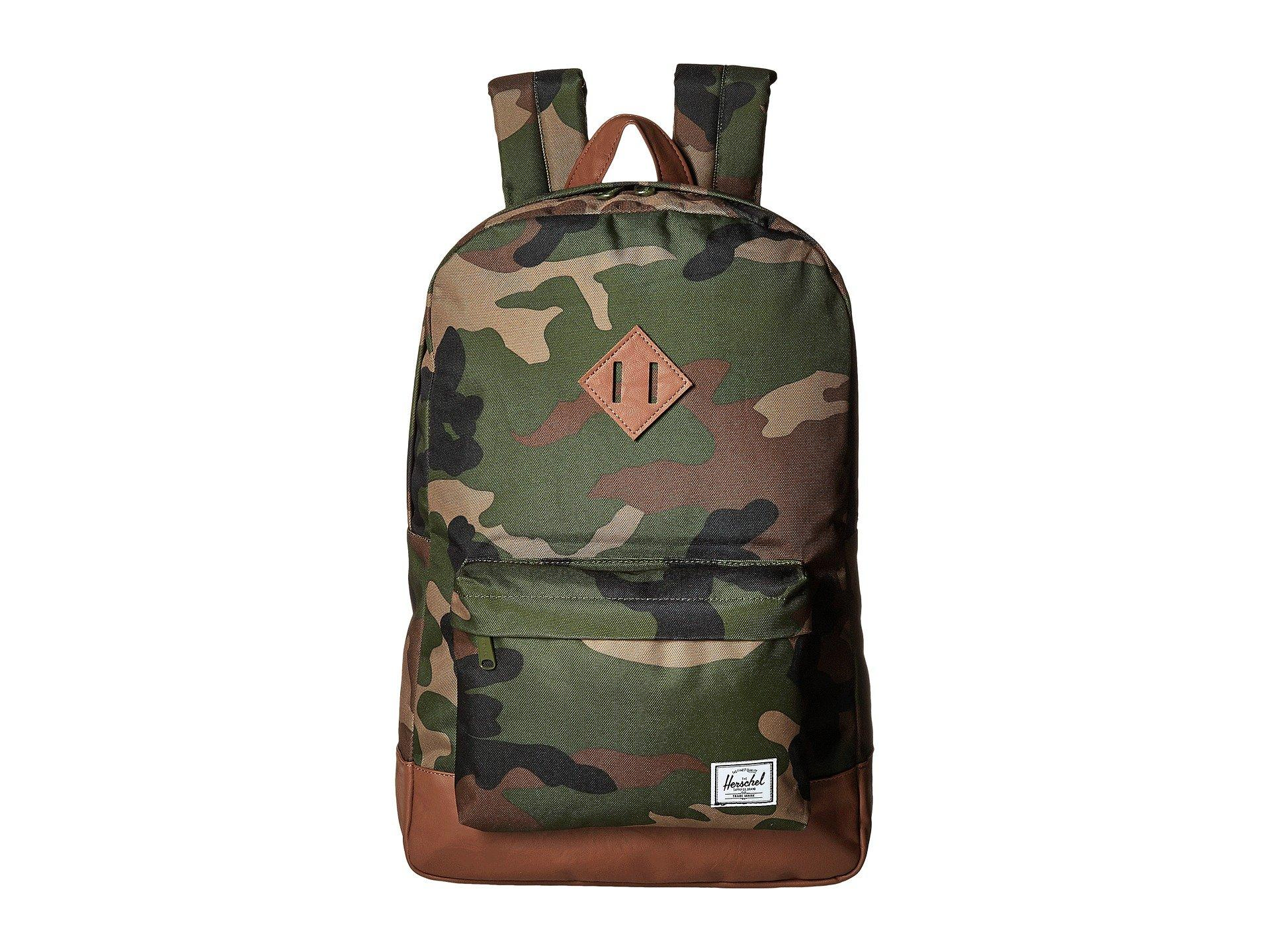 c4ac5a046689 Herschel Supply Co. Men s Heritage (woodland Camo tan Synthetic Leather)  Backpack Bags