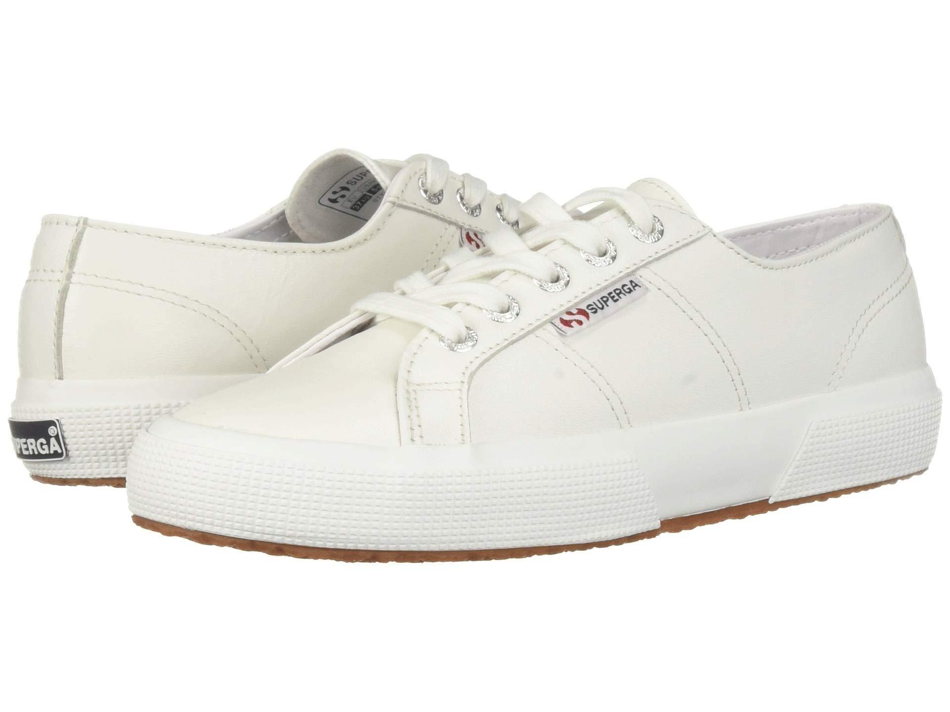 b9b7e6d9339 Superga - White 2750 Nappaleau Sneaker (black) Women s Shoes - Lyst. View  fullscreen
