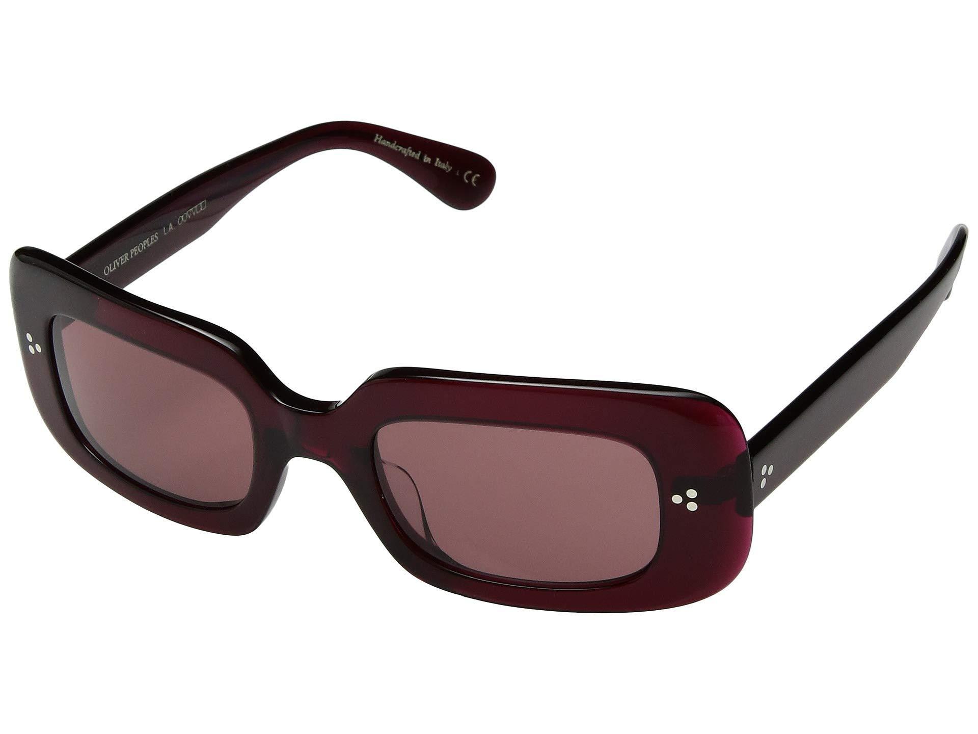 c03d89209234 Lyst - Oliver Peoples Saurine (deep Burgundy damson Lens) Fashion ...