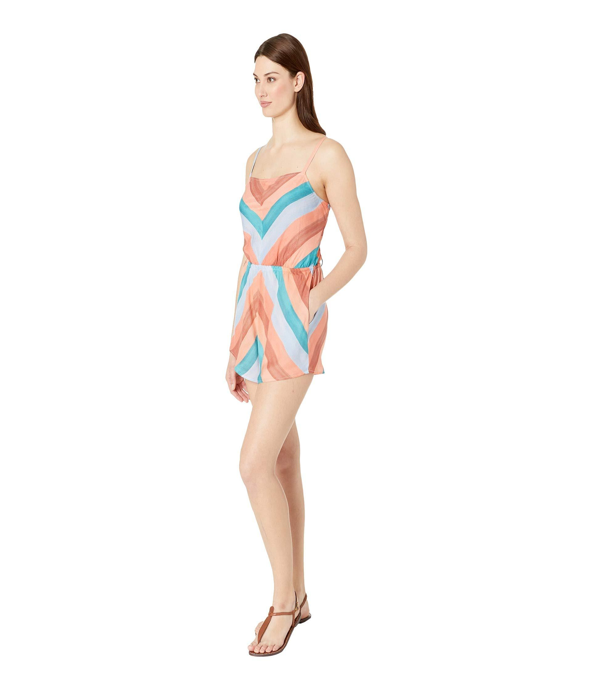 dab022a14e1b Lyst - Lucky Brand Block Party Romper Cover-up (multi) Women s Swimsuits  One Piece