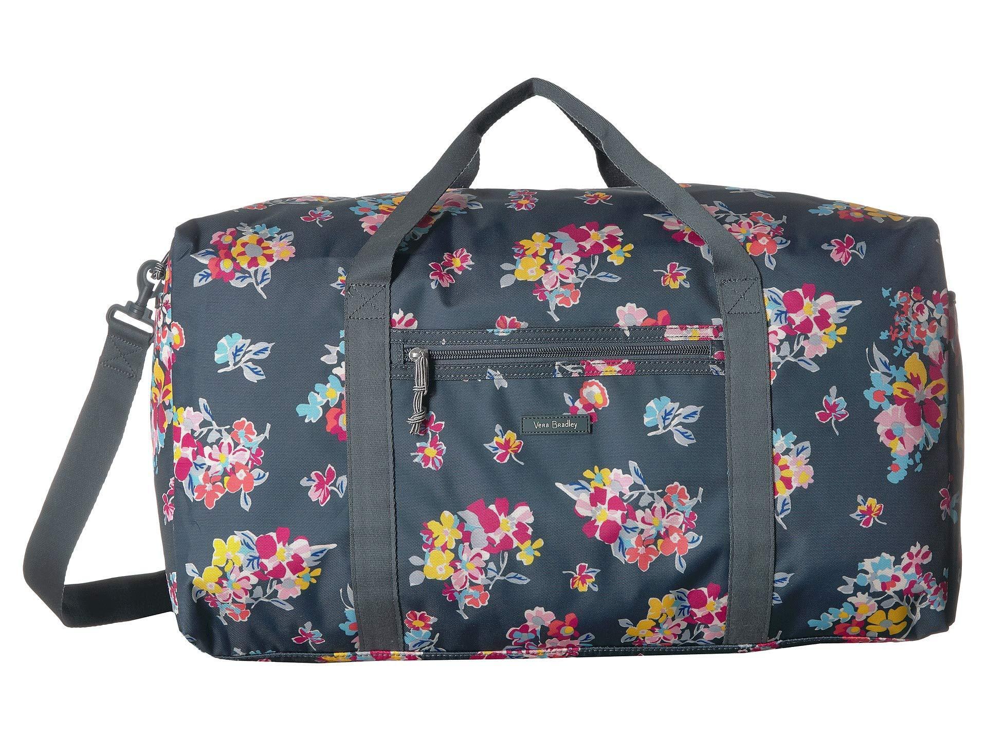 e60a3c40c9 Vera Bradley - Blue Lighten Up Large Travel Duffel (tossed Posies) Duffel  Bags -. View fullscreen