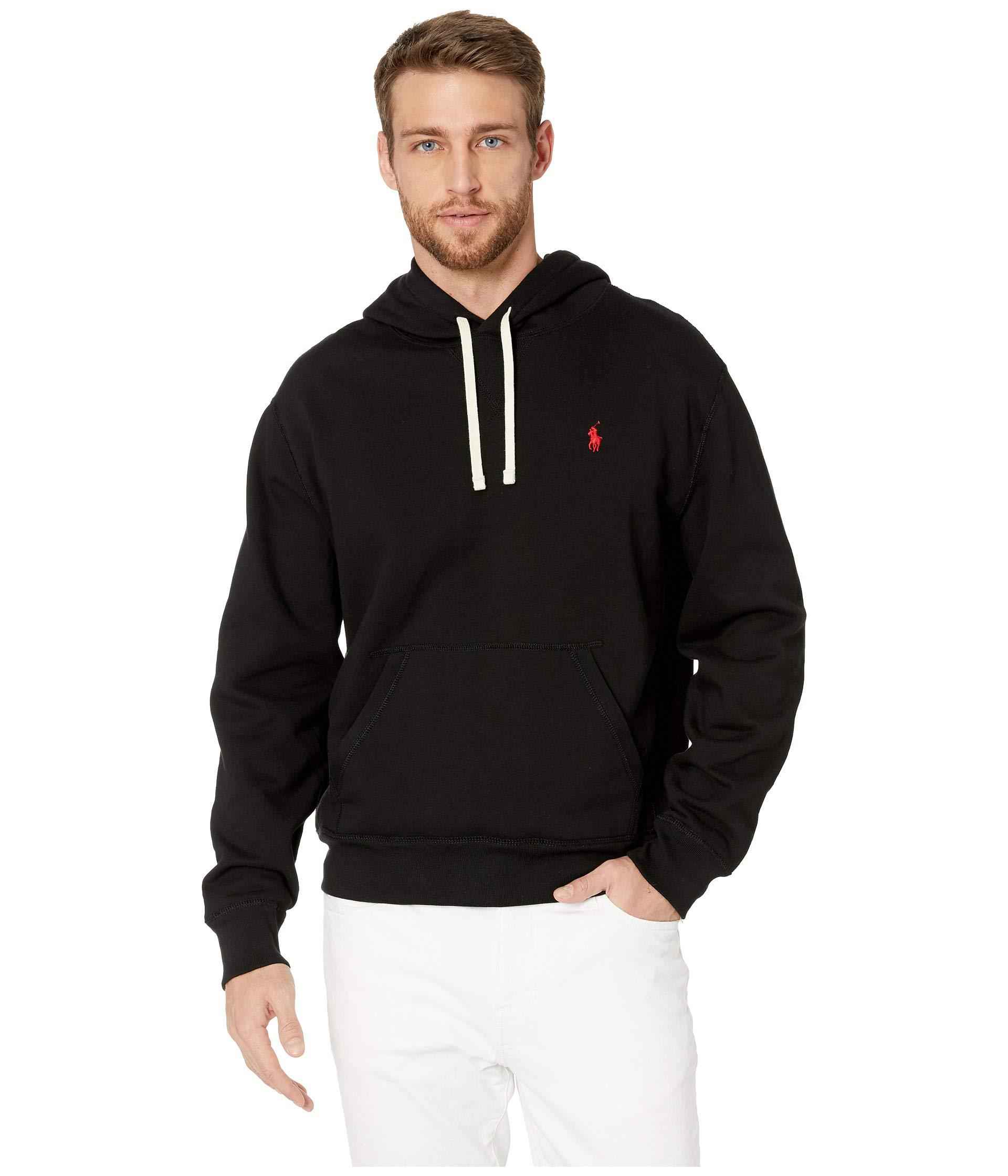 2621be620 Polo Ralph Lauren. Black Long Sleeve Classic Athletic Fleece Pullover Hoodie  ...