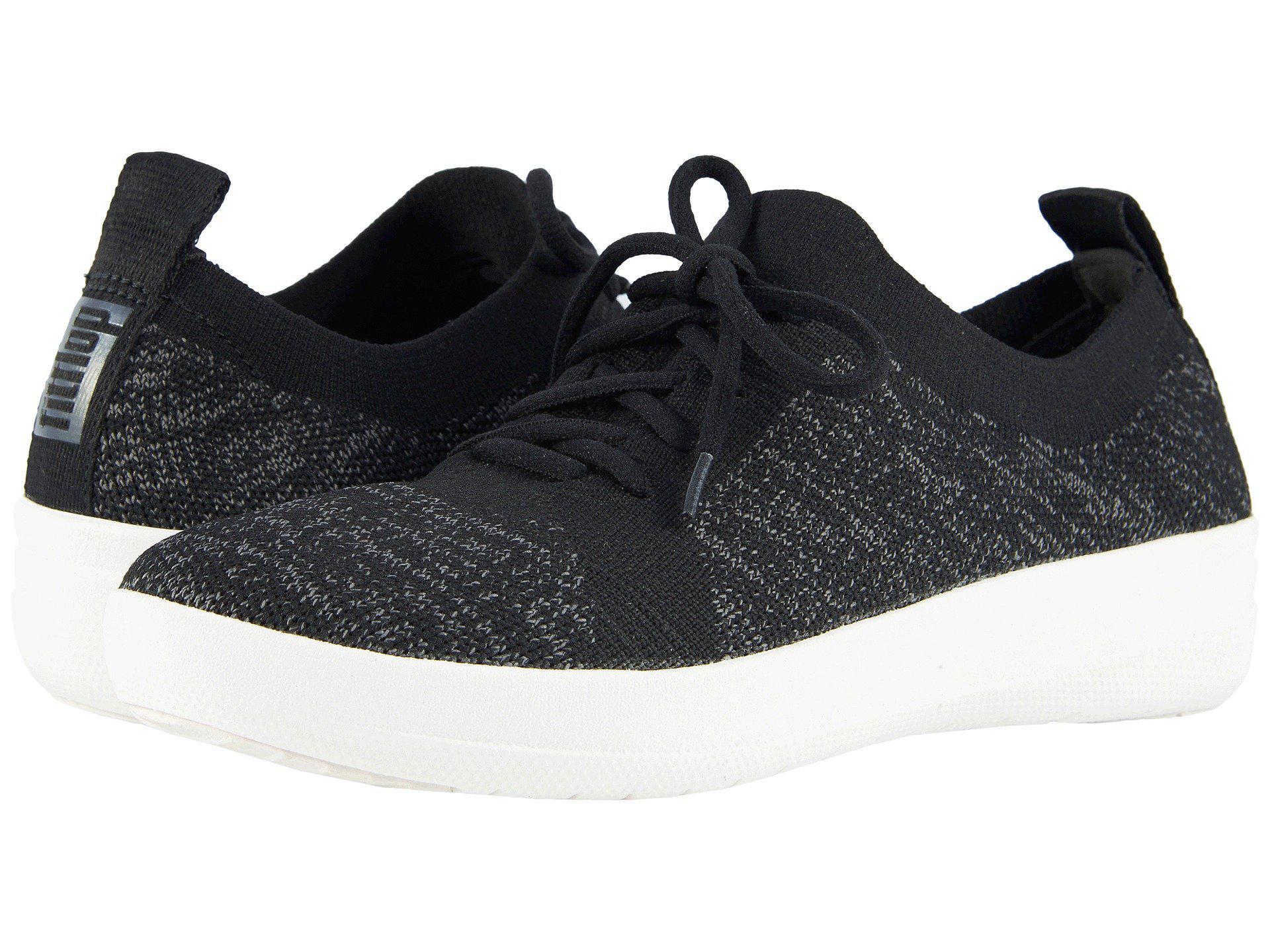 c3220eb1f Lyst - Fitflop F-sporty Uberknit Sneakers (all Black) Women s Lace ...