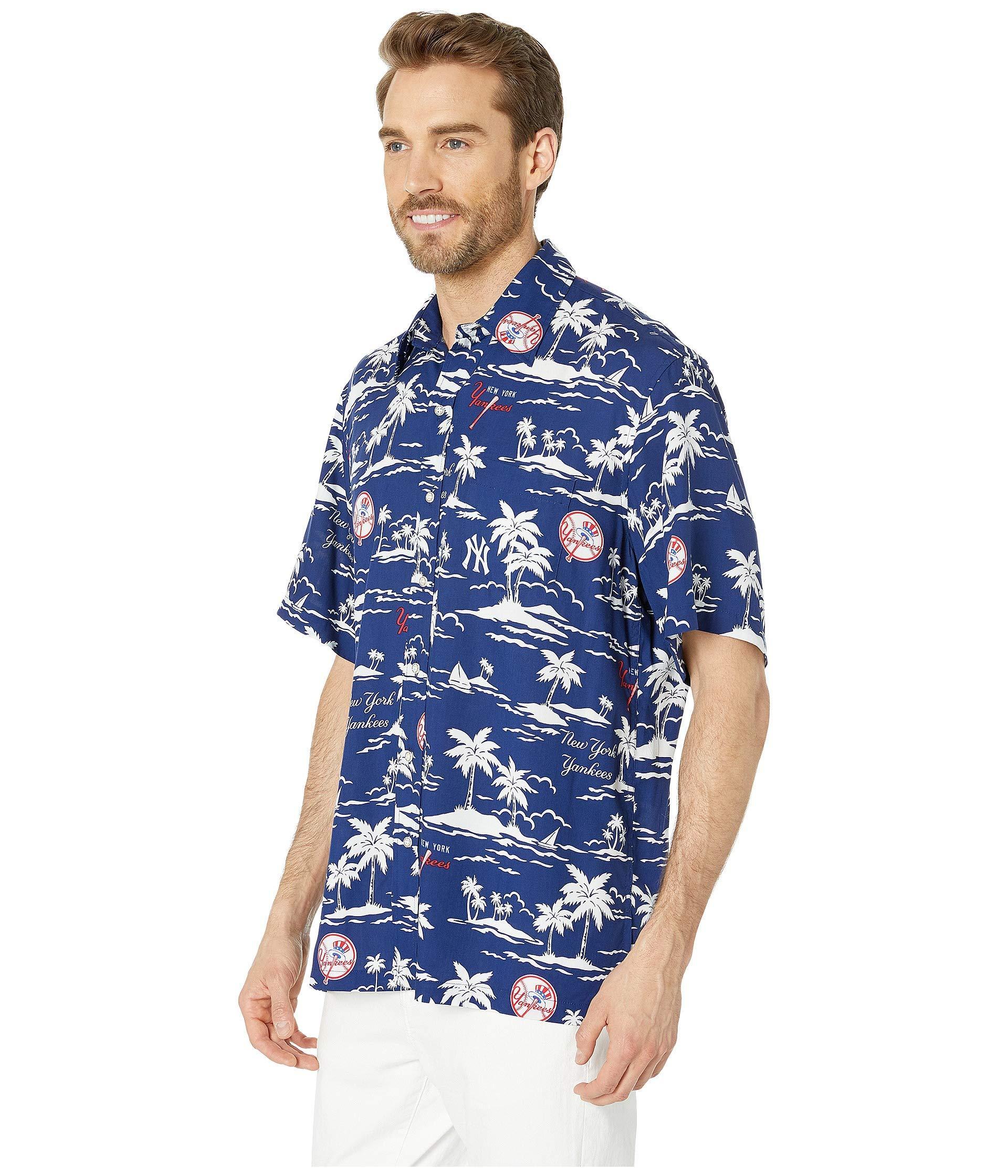 9c11cdb36 Lyst - Reyn Spooner New York Yankees Vintage Rayon Shirt (navy) Men's  Clothing in Blue for Men