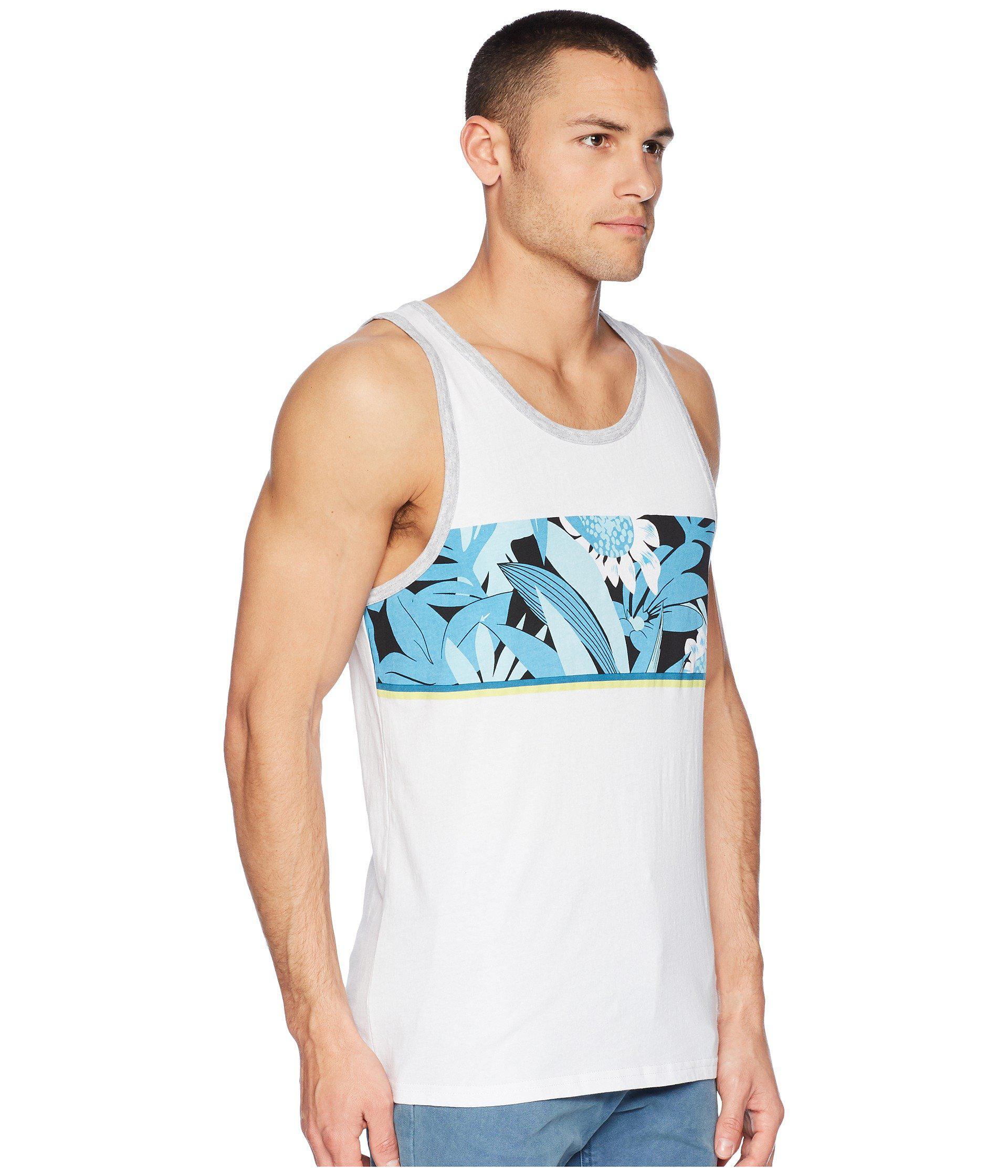 f22a0e13b7f17c Lyst - Quiksilver Slash Tank Top (white black) Men s Sleeveless in ...