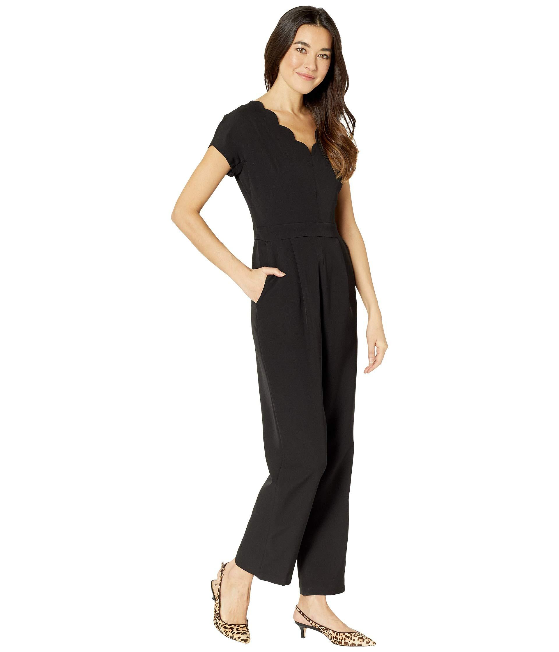 643af67bab63 Maggy London - Dream Crepe Scalloped Neck Jumpsuit (black) Women s Jumpsuit    Rompers One. View fullscreen