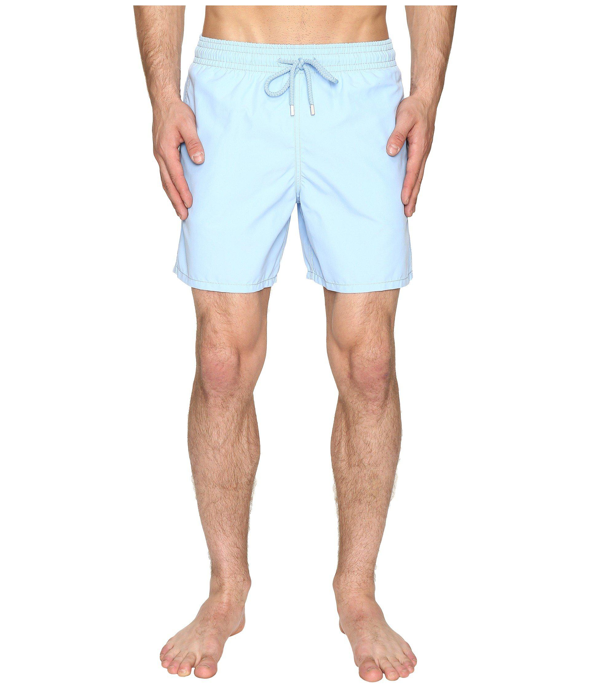 2754816b20 Lyst - Vilebrequin Moorea Coral Water Reactive Swim Trunk in Blue ...