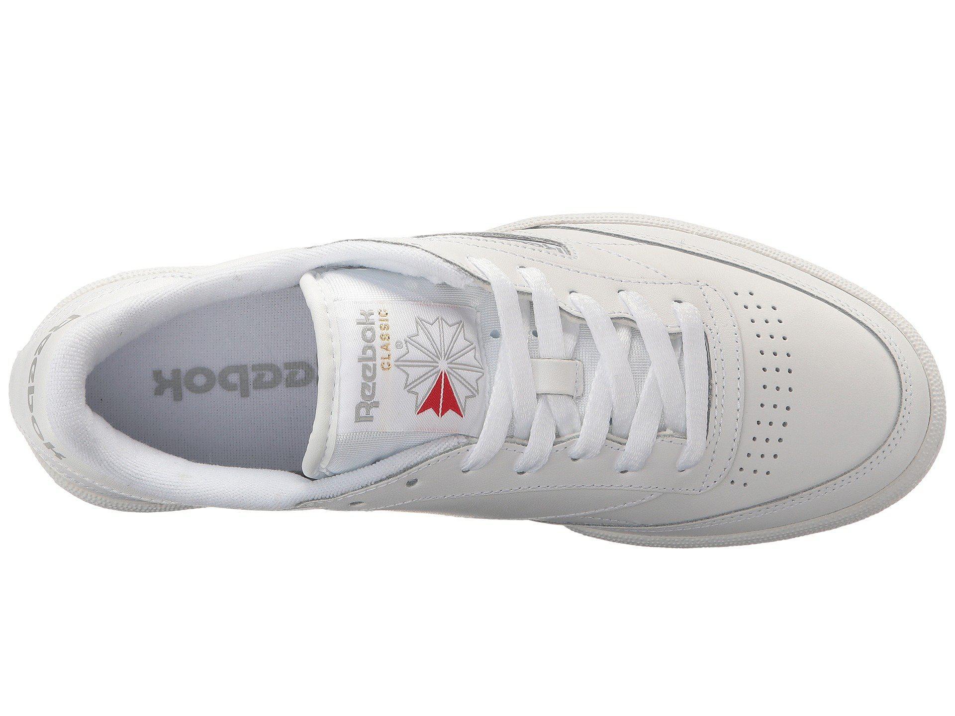 f9b838b5a30b Reebok - White Club C 85 (int black charcoal) Men s Shoes for. View  fullscreen