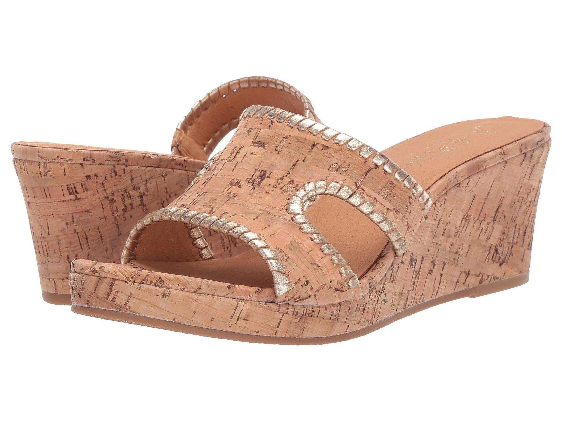 96476233531 Lyst - Jack Rogers Sloane Mid Wedge (cork gold) Women s Wedge Shoes