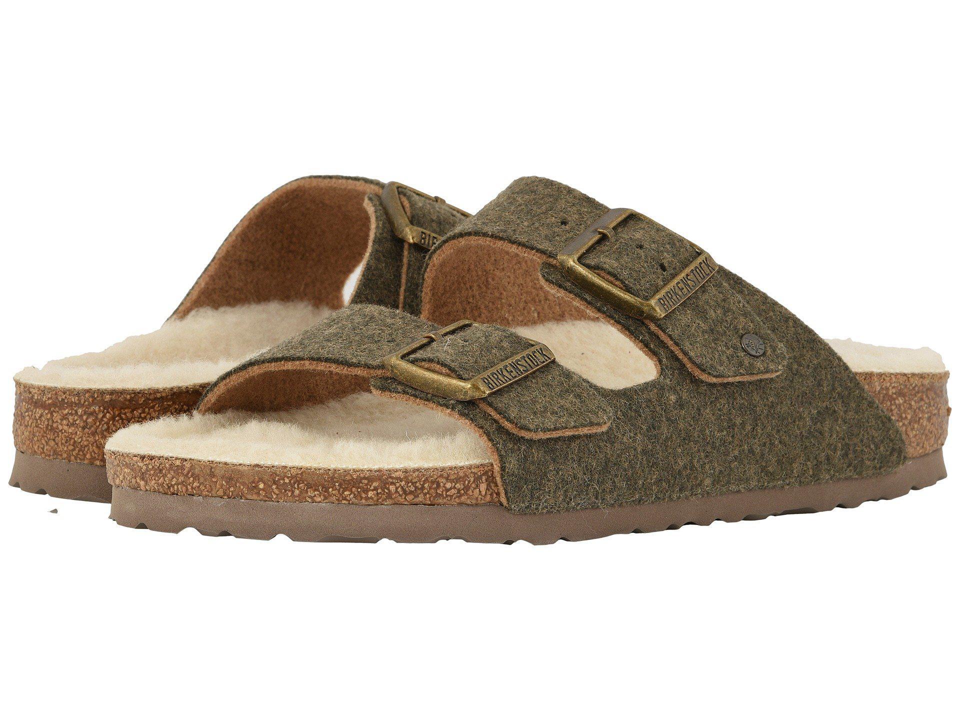 a34d0361fda0 Lyst - Birkenstock Arizona Wool (doubleface Khaki) Shoes