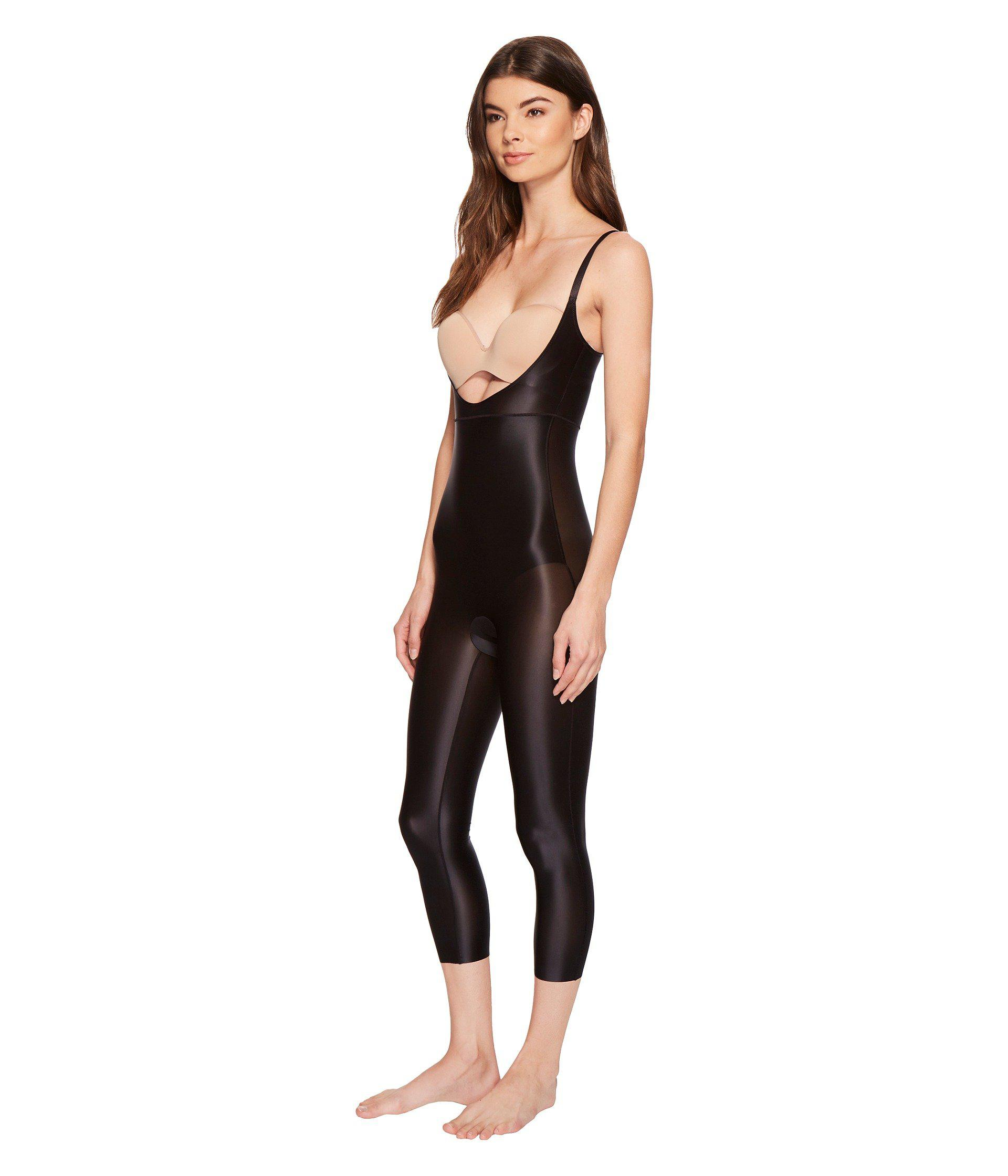 06b447fe5381 Lyst - Spanx Suit Your Fancy Open-bust Catsuit (very Black) Women s  Jumpsuit   Rompers One Piece in Black