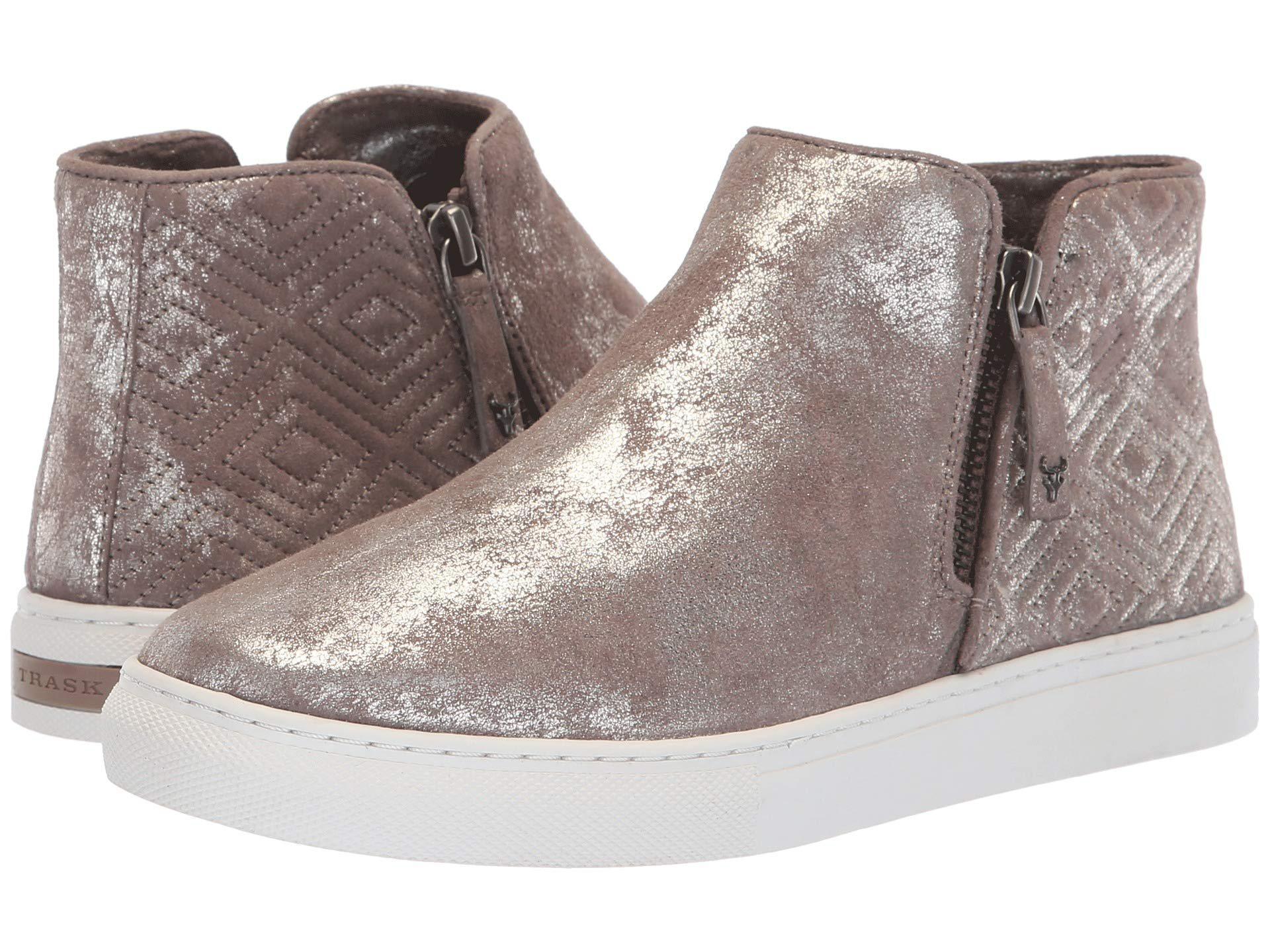 adaa175c8b9 Lyst - Trask Lana (pewter Metallic Italian Suede) Women s Shoes in ...