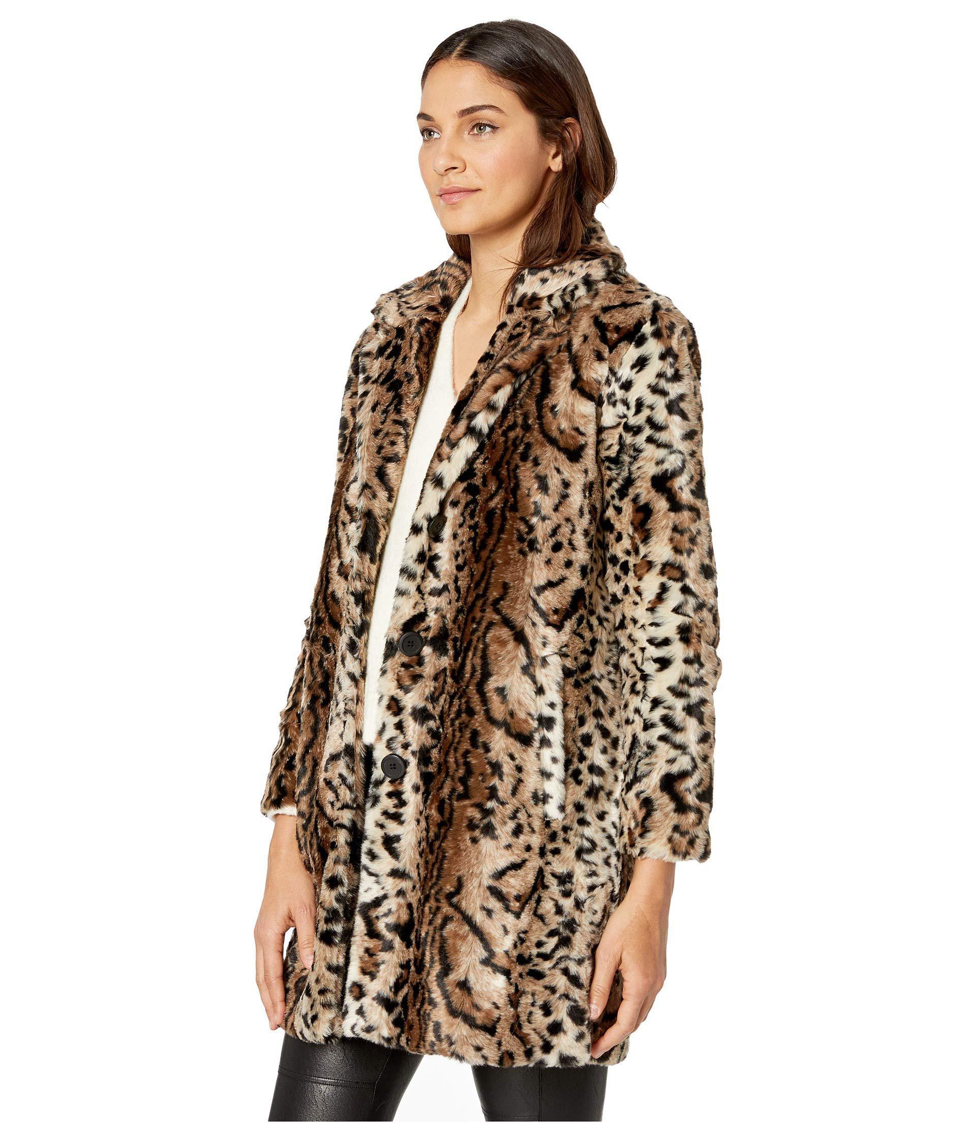 44b45bc4a9287 Lyst - BB Dakota Bradshaw Leopard Faux Fur Coat (brown) Women s Coat in  Brown