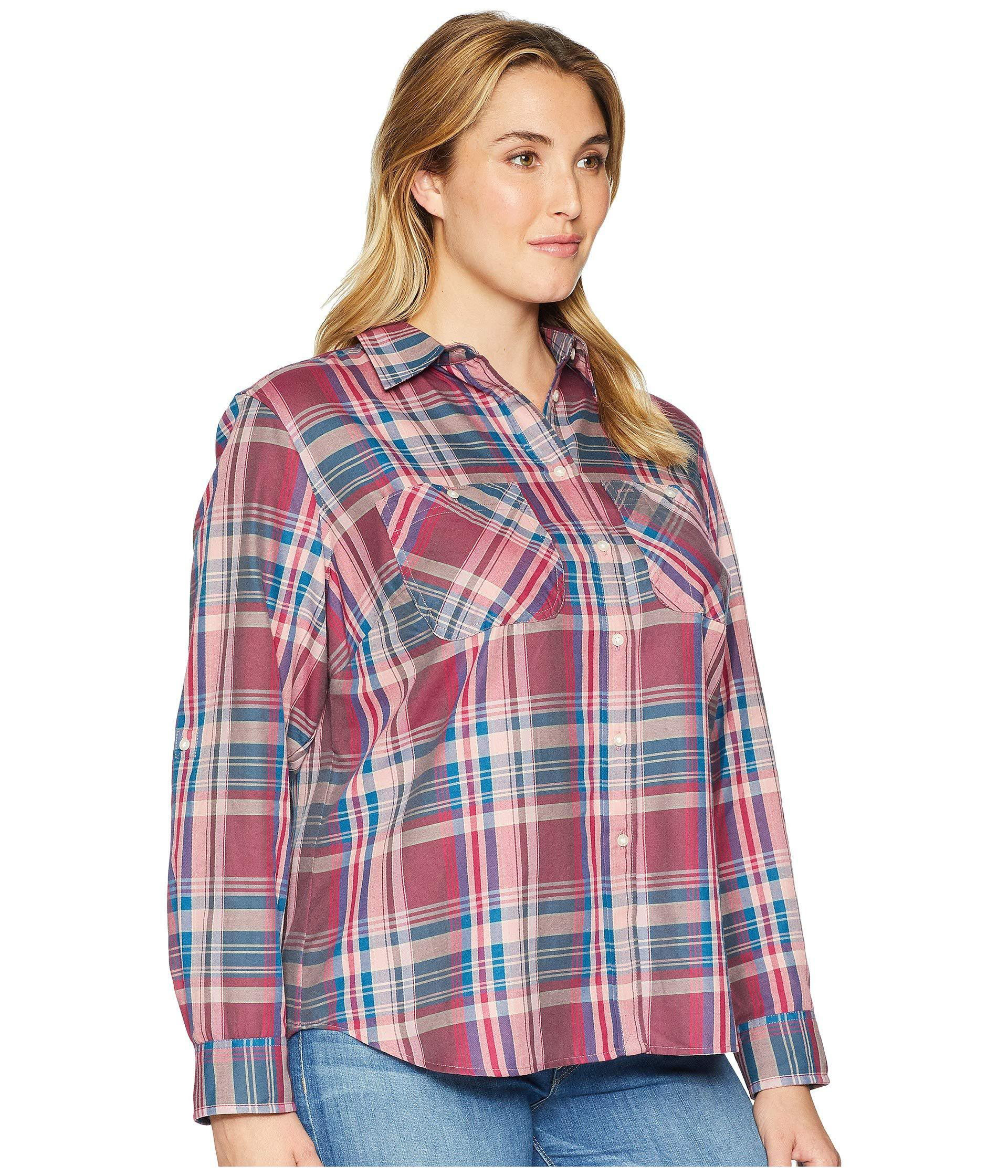 54eb18eb9 Lauren by Ralph Lauren Plus Size Plaid Twill Button-down Shirt (red ...