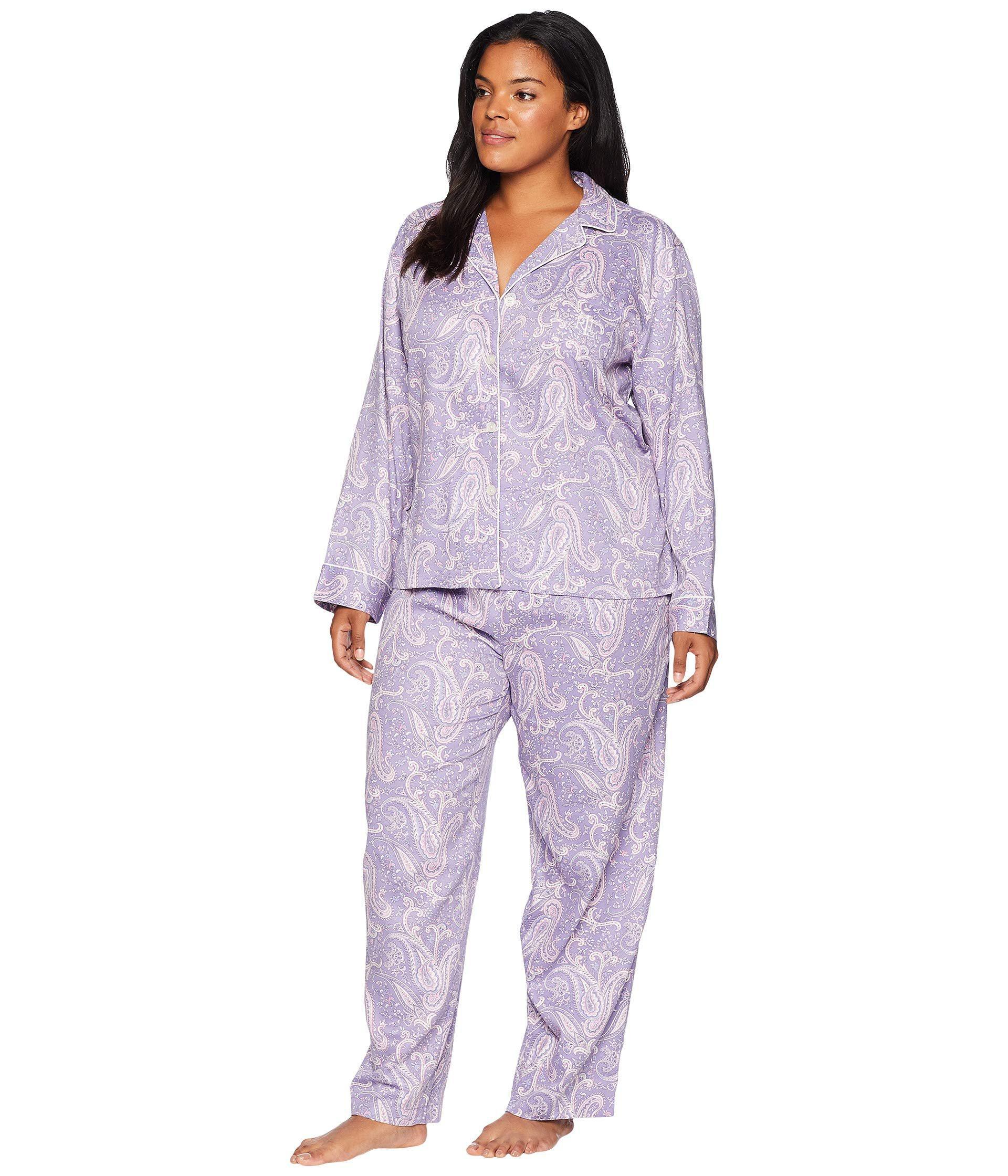 3651d941c898 Lyst - Lauren by Ralph Lauren Plus Size Classic Woven Long Sleeve ...