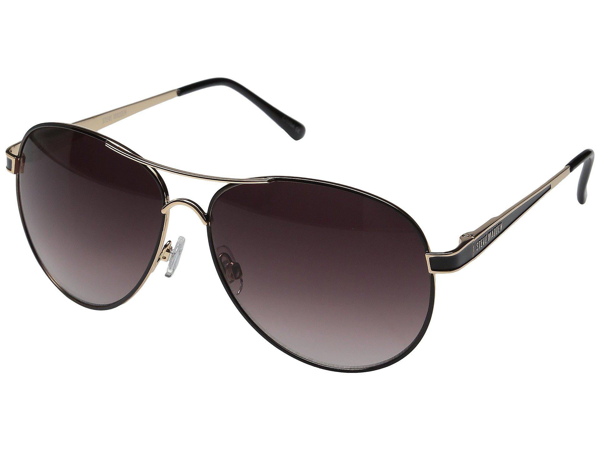 054f20f405 Lyst - Steve Madden Lauren (rose Gold white) Fashion Sunglasses in Black