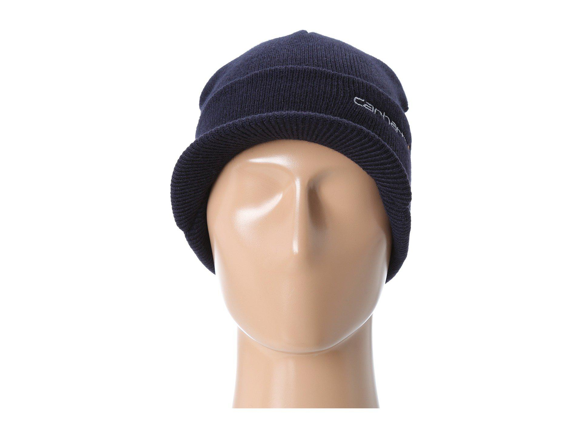 e1b122bf Carhartt Knit Hat With Visor in Blue for Men - Lyst