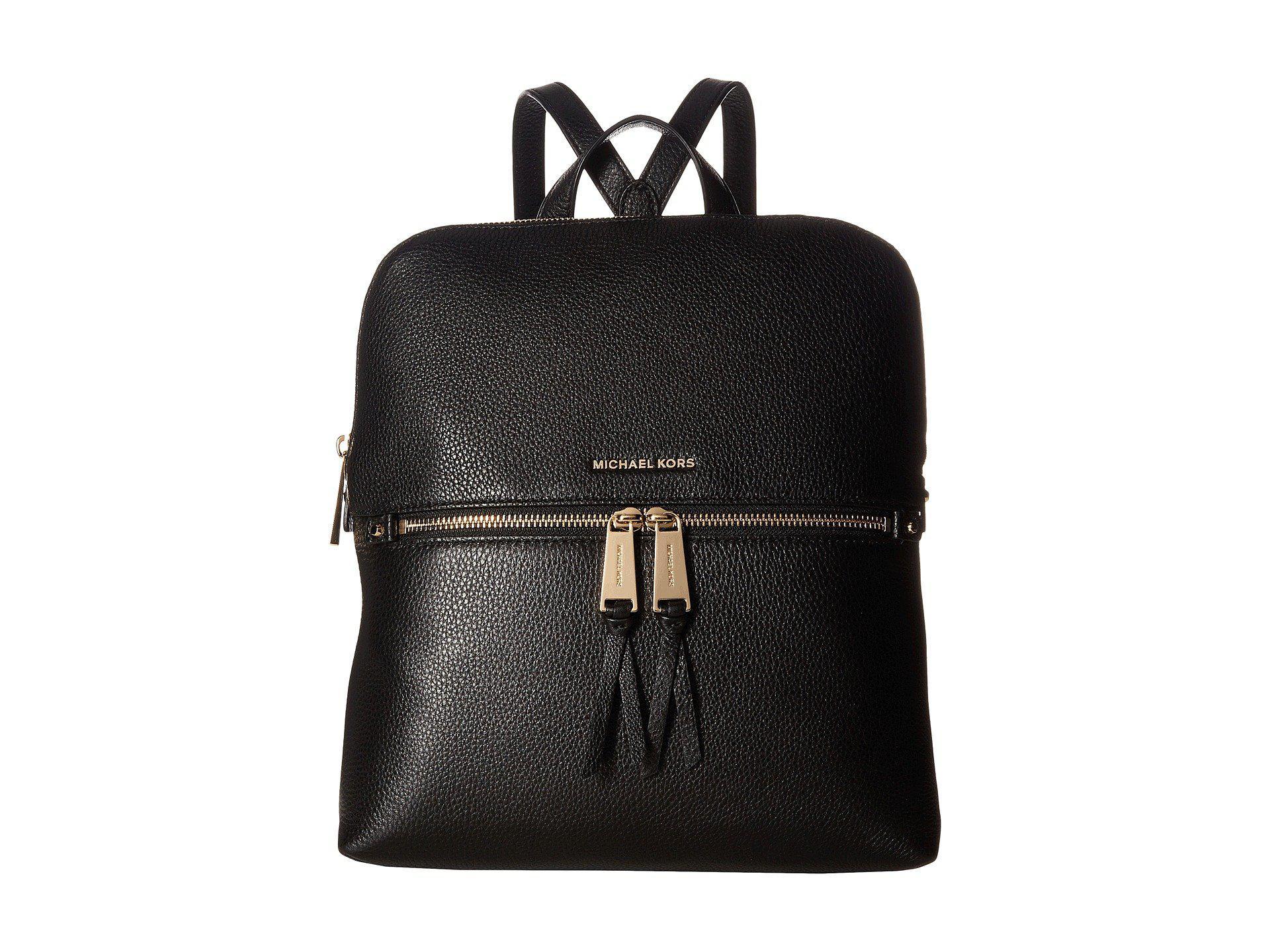392dc8769d94 MICHAEL Michael Kors. Women s Black Rhea Zip Medium Slim Backpack (acorn) Backpack  Bags