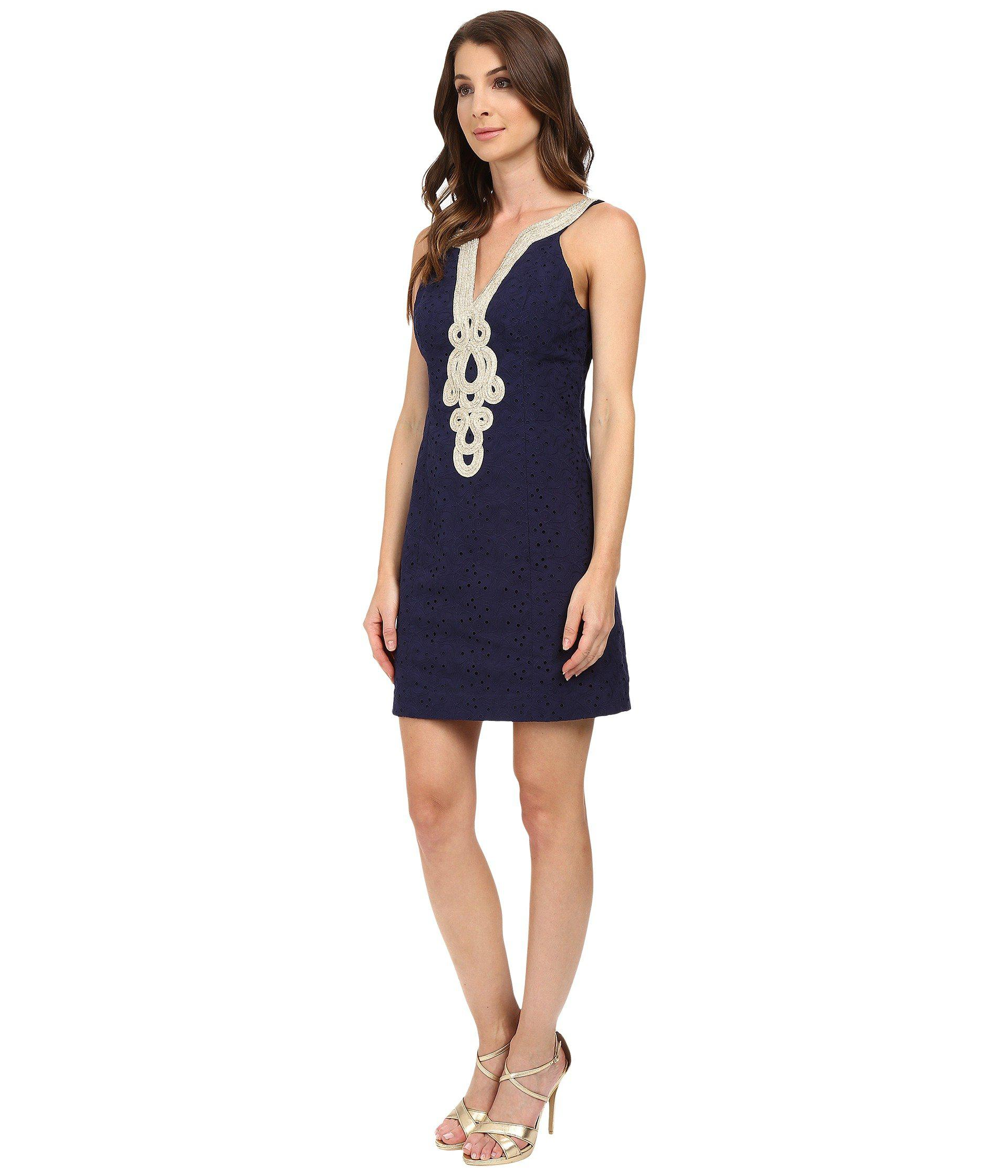 0d795d36df6aa6 Lyst - Lilly Pulitzer Emery Shift Dress in Blue