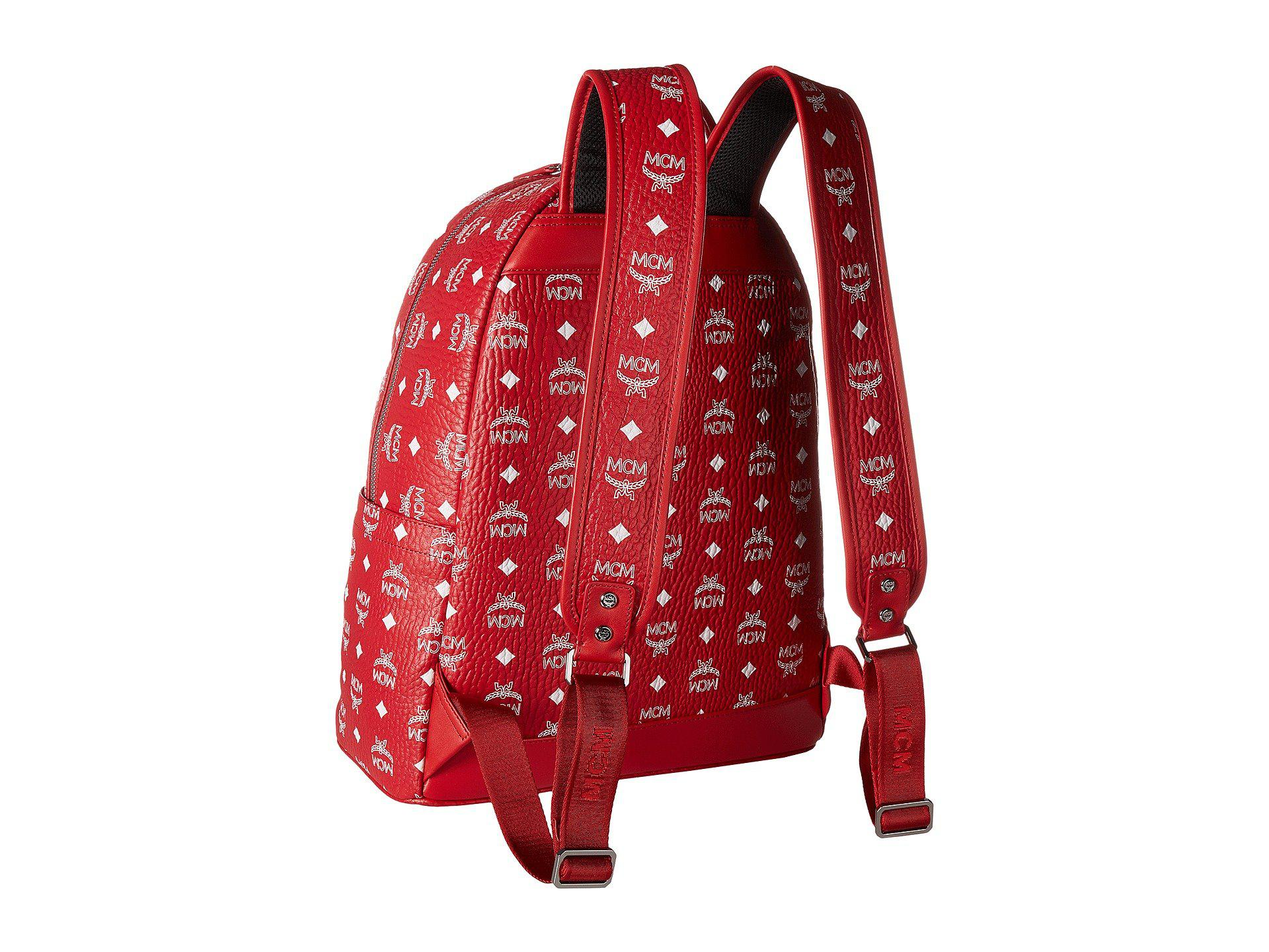 MCM - Red Stark No Stud Medium Backpack (white) Backpack Bags for Men -.  View fullscreen aed33a7a9d98b