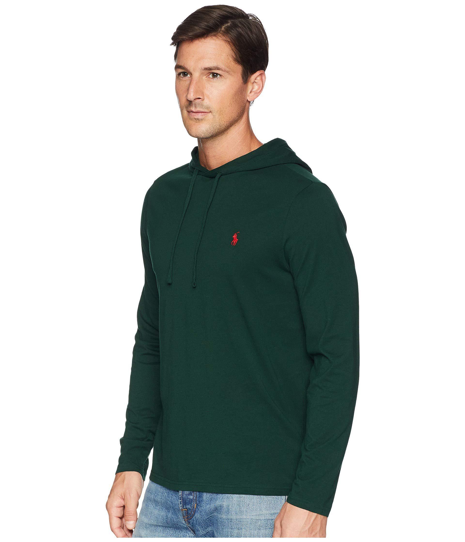 283bae3f4974 Lyst - Polo Ralph Lauren 30 1 Jersey Long Sleeve Hooded T-shirt (college  Green) Men s T Shirt in Green for Men