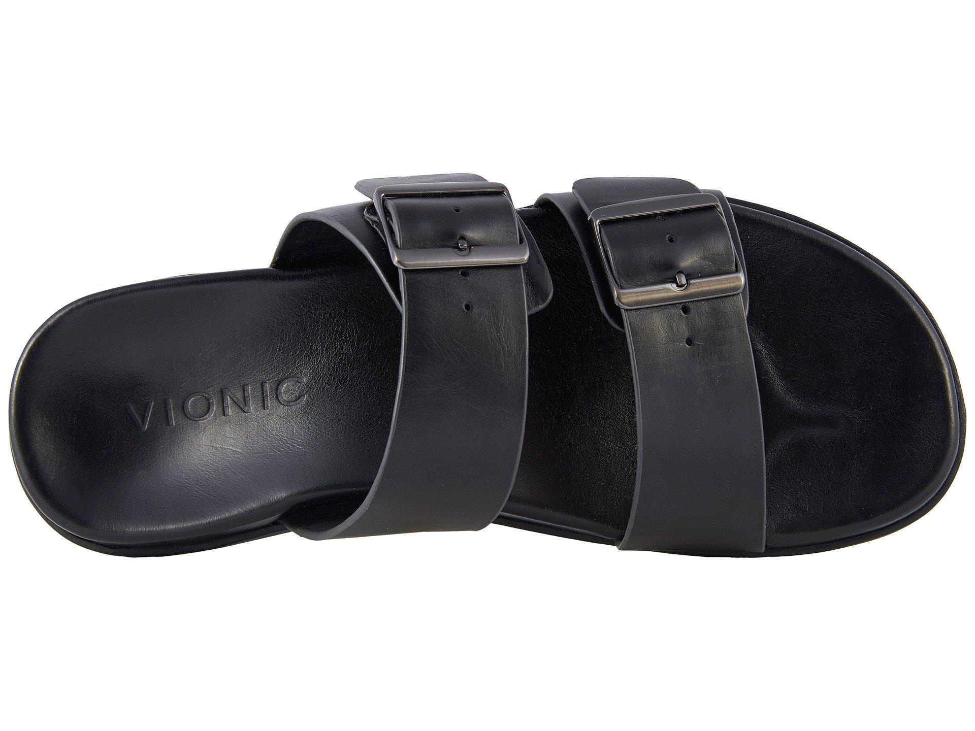 bf7b81032edf Vionic - Black Charlie (brown) Men s Sandals for Men - Lyst. View fullscreen