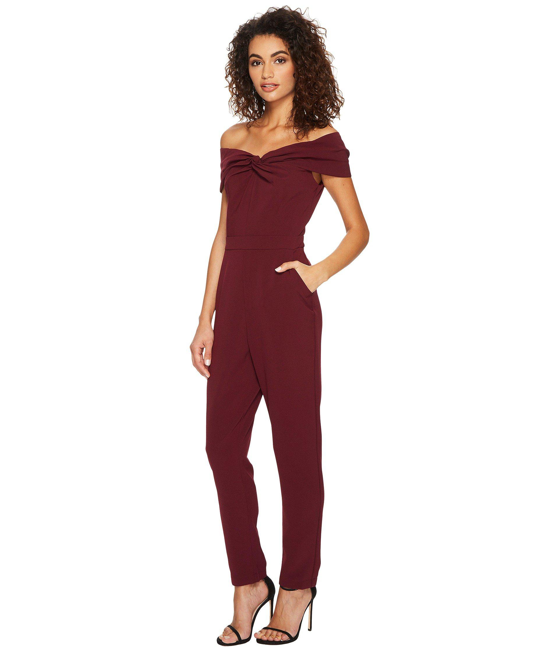 509f86aeaac Lyst - Adelyn Rae Karlie Jumpsuit in Red
