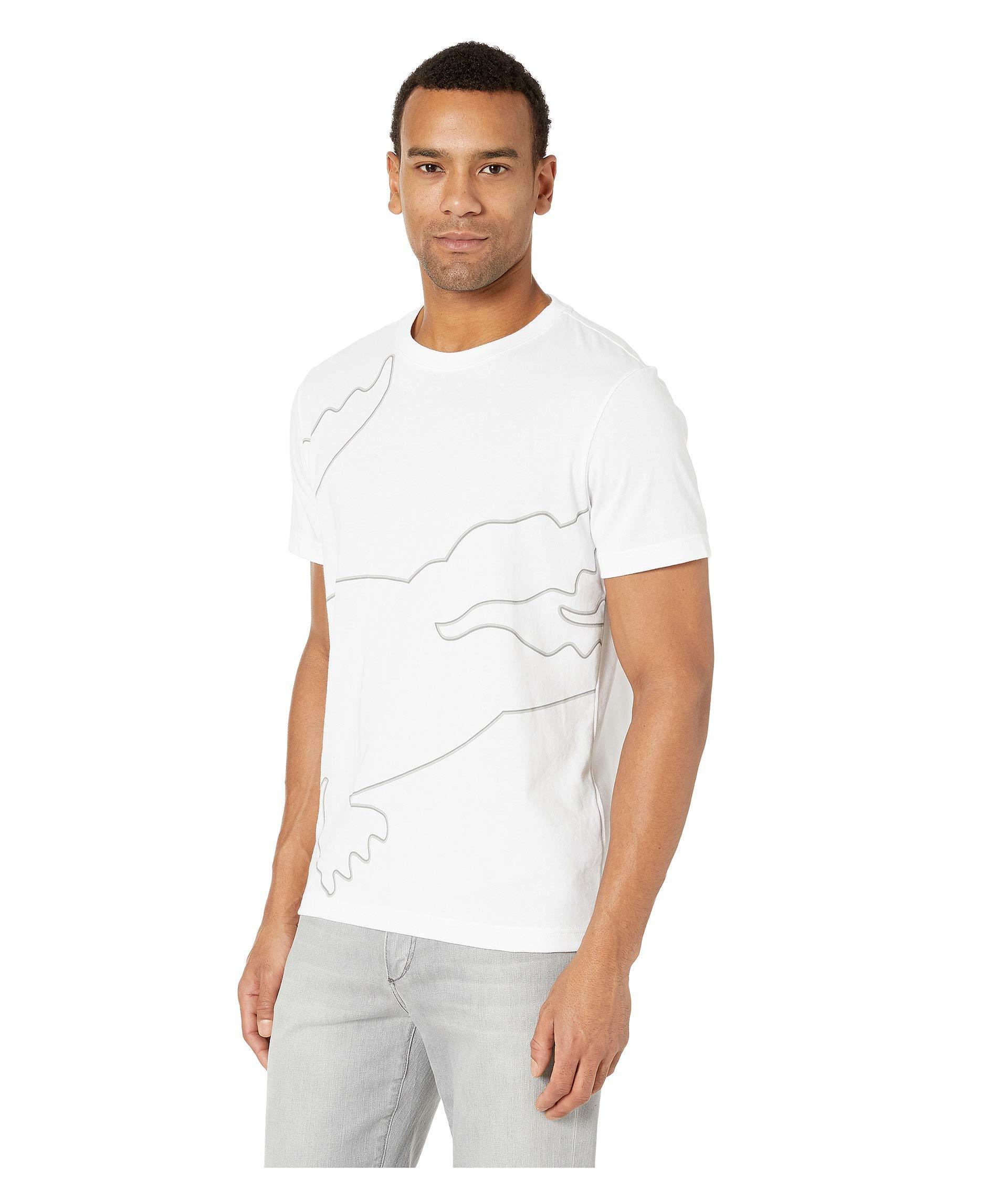 8d99a0c7af3c Lyst - Lacoste Sport Short Sleeve Outlined Big Croc T-shirt in White for Men
