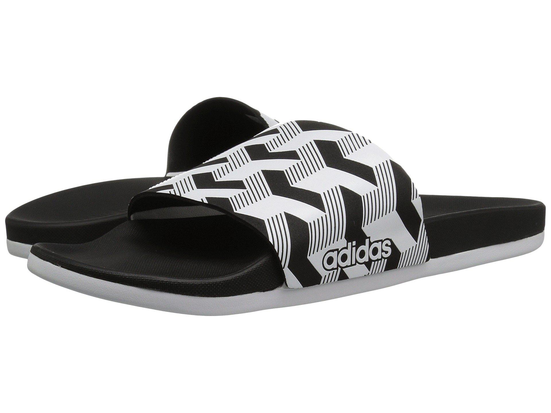 fb14a5320dc5e4 Lyst - adidas Adilette Cf+ Link Gr (black white black) Men s Slide ...