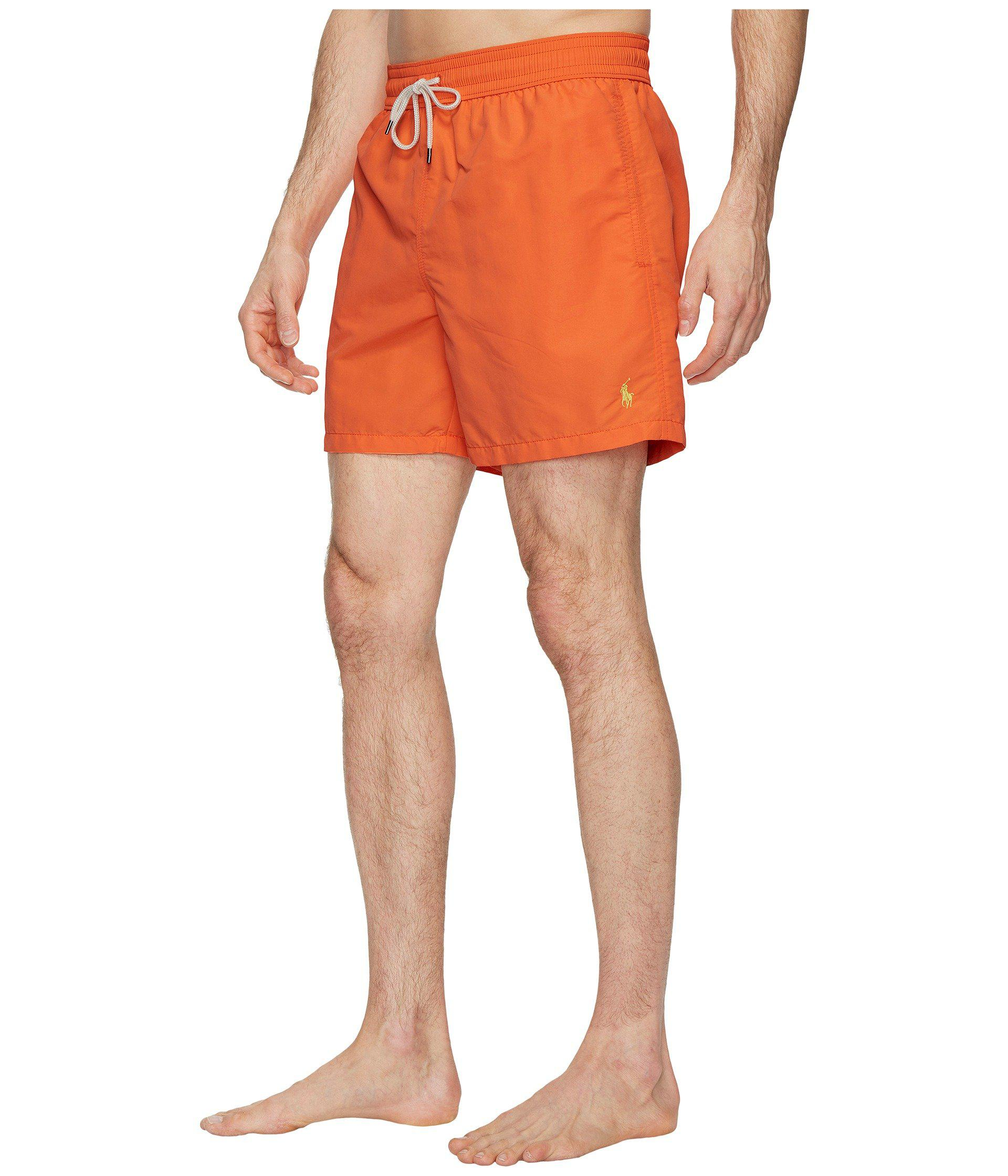 20b130adca ... cheap lyst polo ralph lauren nylon traveler swim shorts cactus flower mens  swimwear in orange for