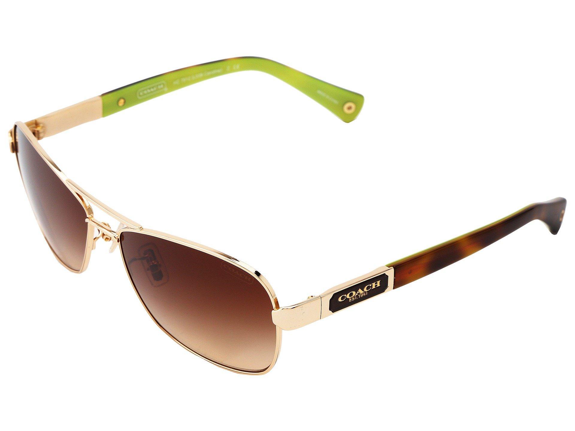 9100b83822ef Lyst - COACH Caroline (brown Gradient) Fashion Sunglasses in Brown